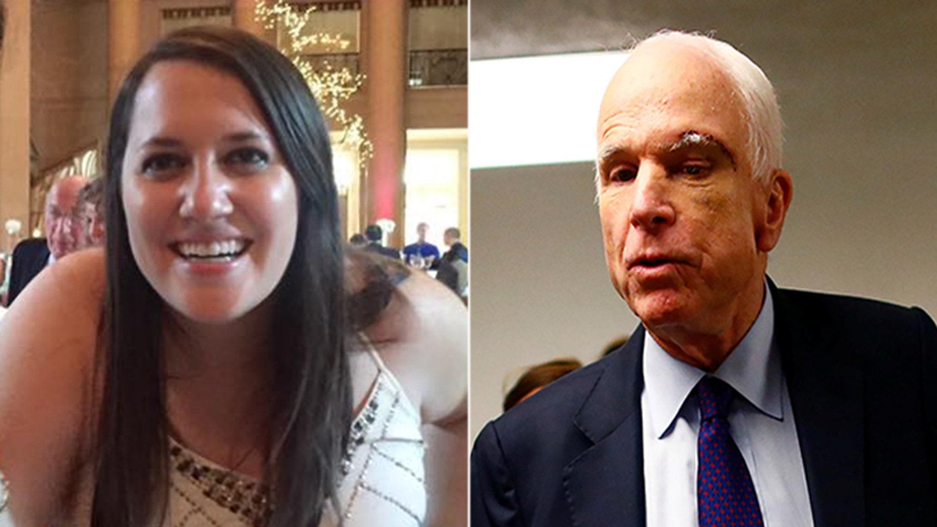 HuffPost senior reporter Ashley Feinberg apologized for her tweet about Senator John McCain.