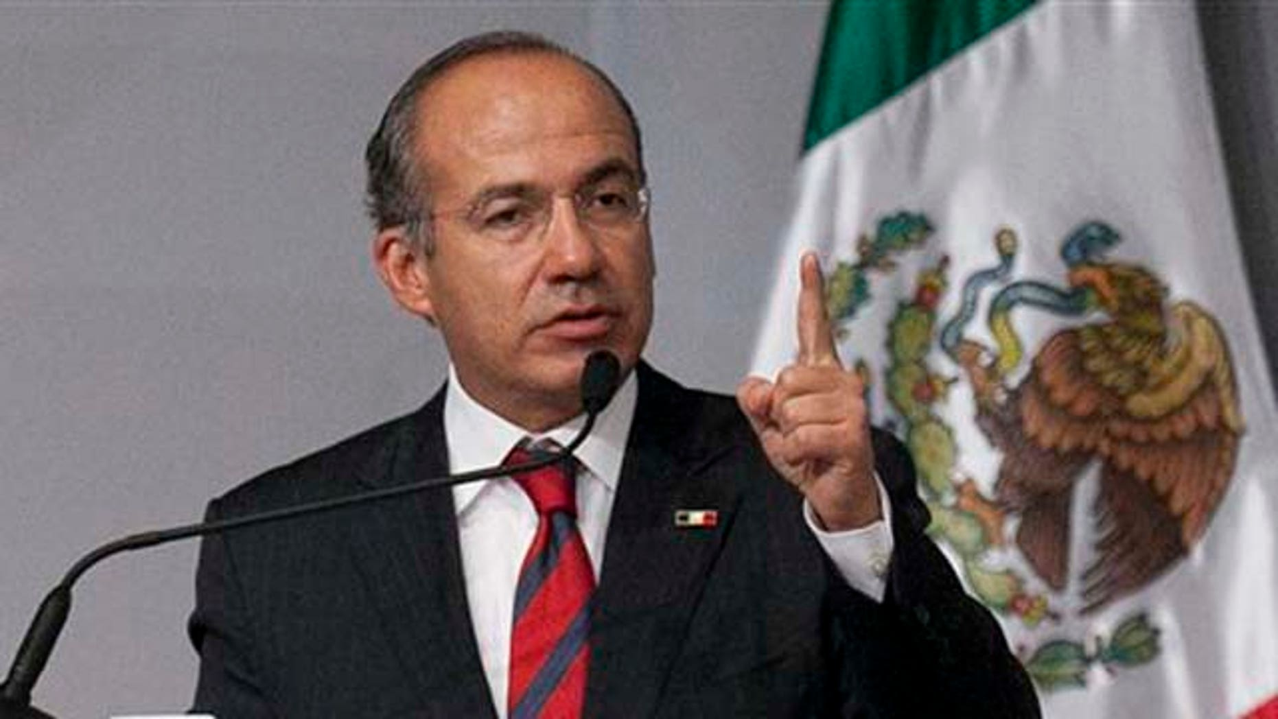 Sept. 21, 2011: Mexico's President Felipe Calderón addresses members of the Mexican community on Wednesday during a visit to Los Angeles.