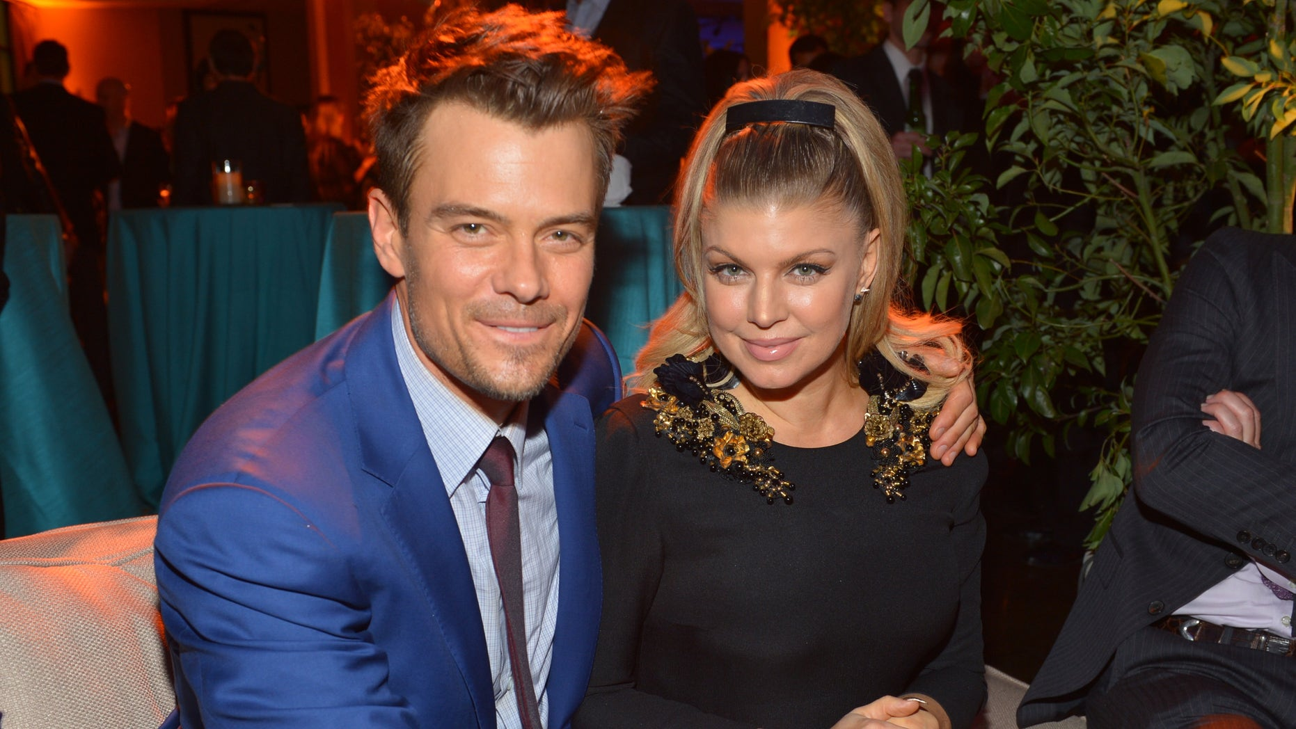 """HOLLYWOOD, CA - FEBRUARY 05:  Actor Josh Duhamel (L) and actress/singer Fergie attend the premiere of Relativity Media's """"Safe Haven"""" after party at The Terrace At Hollywood & Highland on February 5, 2013 in Hollywood, California.  (Photo by Alberto E. Rodriguez/Getty Images for Relativity Media)"""