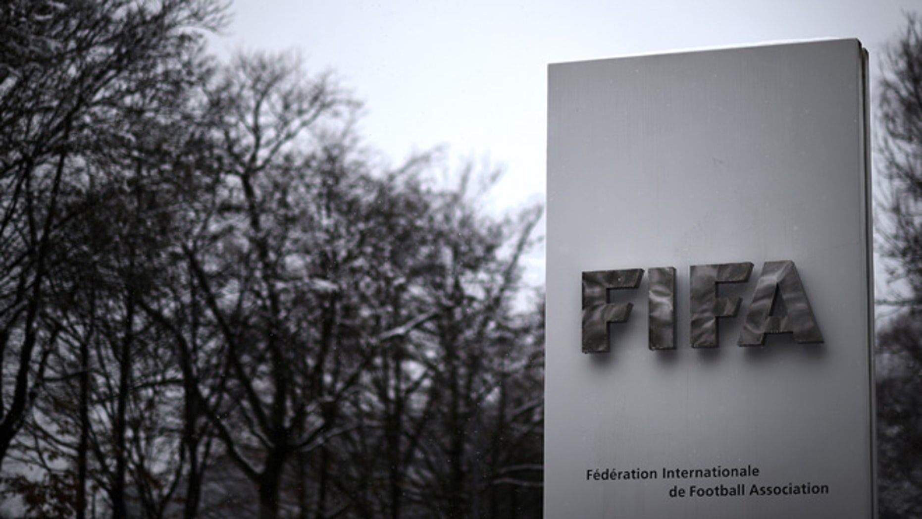 ZURICH, SWITZERLAND - FEBRUARY 25:  A FIFA logo seen near the headquarter Home of FIFA ahead of tomorrow's Extraordinary FIFA Congress to elect a new FIFA President at Hallenstadion on February 25, 2016 in Zurich, Switzerland.  (Photo by Matthias Hangst/Getty Images)
