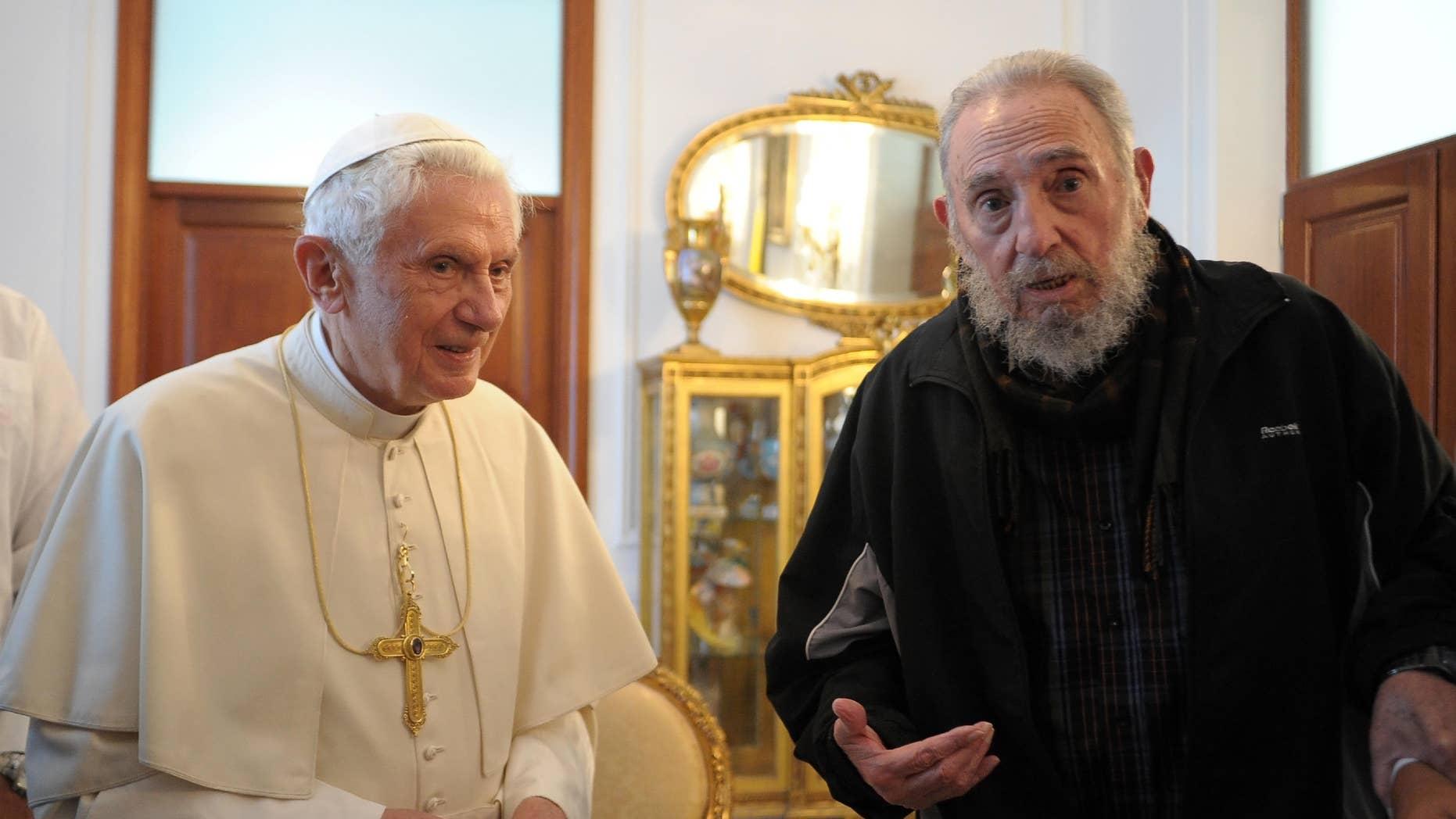 Fidel Castro's last public appearance was in March when he greeted Pope Benedict XVI in Cuba.