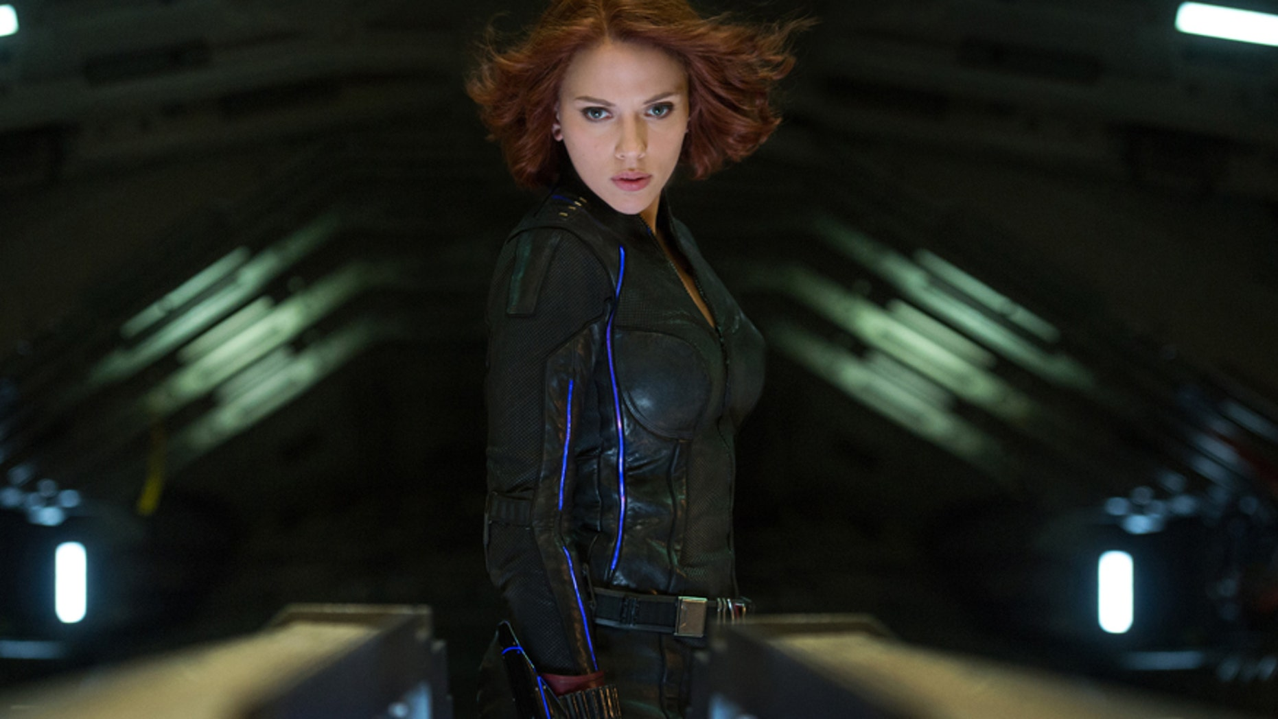"This photo provide by Disney shows Scarlett Johansson as Black Widow in a scene from Marvel's ""Avengers: Age Of Ultron."""