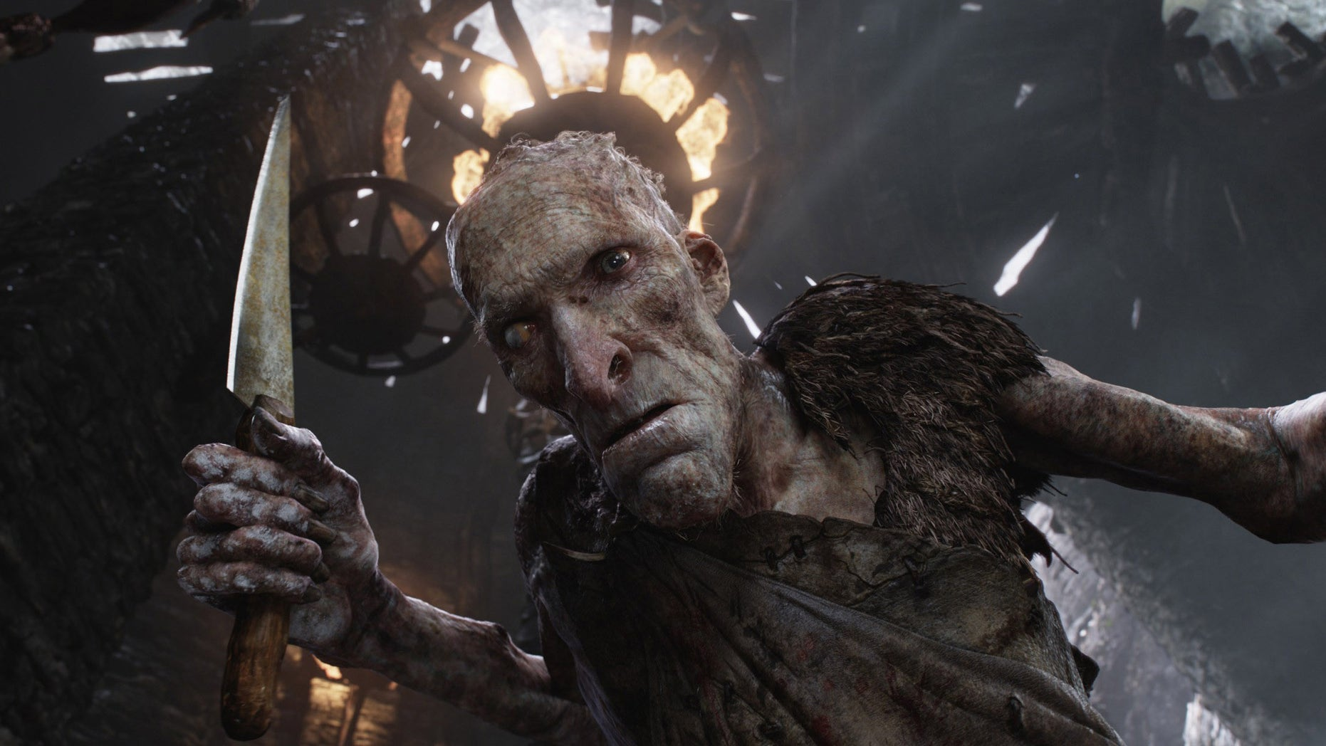"This film image released by Warner Bros. Pictures shows the character Cook, voiced by Philip Philmar, in a scene from ""Jack the Giant Slayer."""