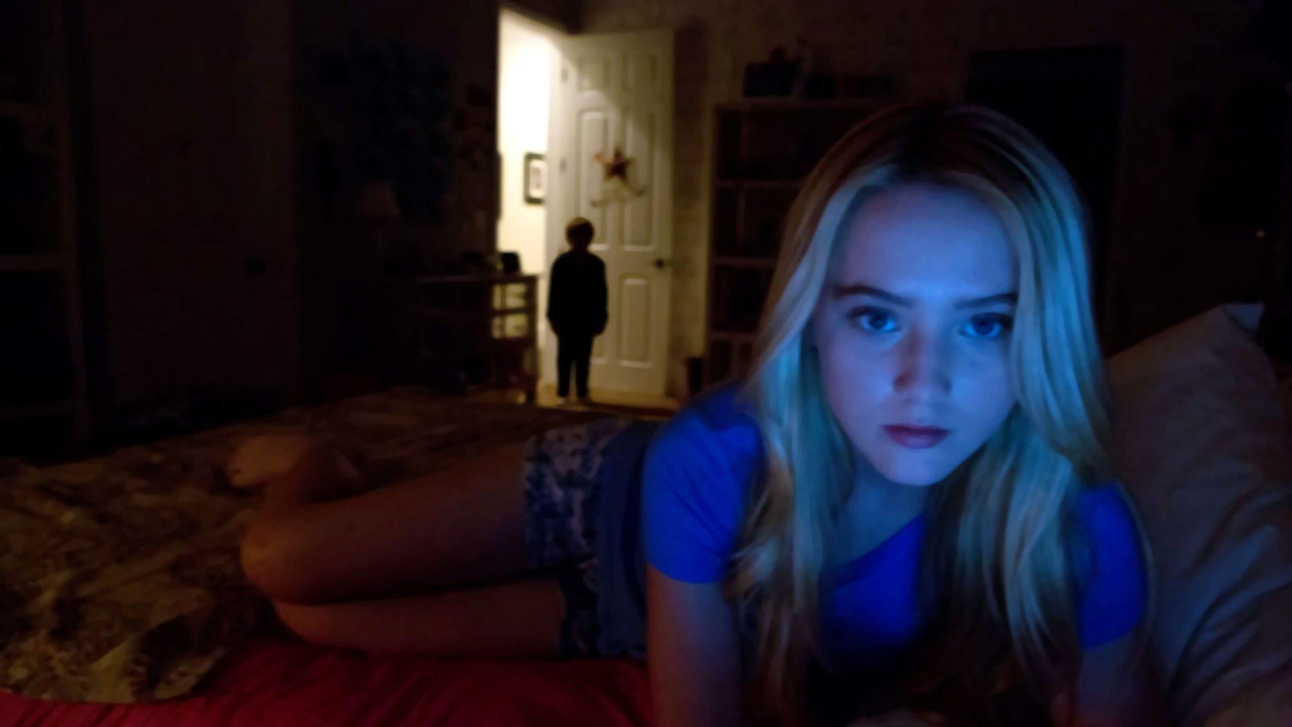"This film image released by Paramount Pictures shows Kathryn Newton in a scene from ""Paranormal Activity 4"""