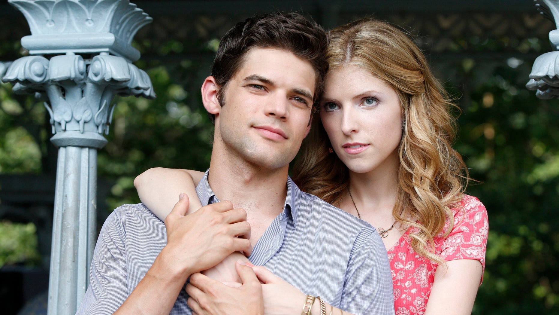 """This image released by RADiUS shows Jeremy Jordan, left, and Anna Kendrick on the set of """"The Last 5 Years,"""" a 95-minute film, which has been adapted and directed by Richard LaGravenese and hits theaters and video on demand Friday."""