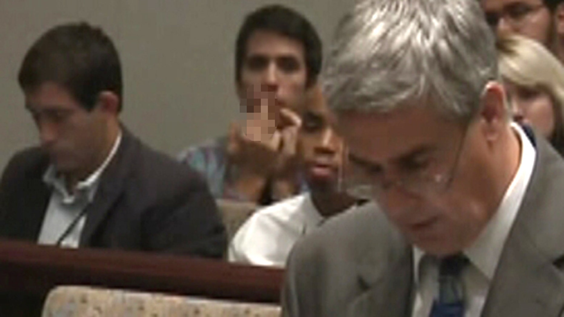 Video catches Matthew Bartlett giving the middle finger to a prosecutor during the Casey Anthony trial.