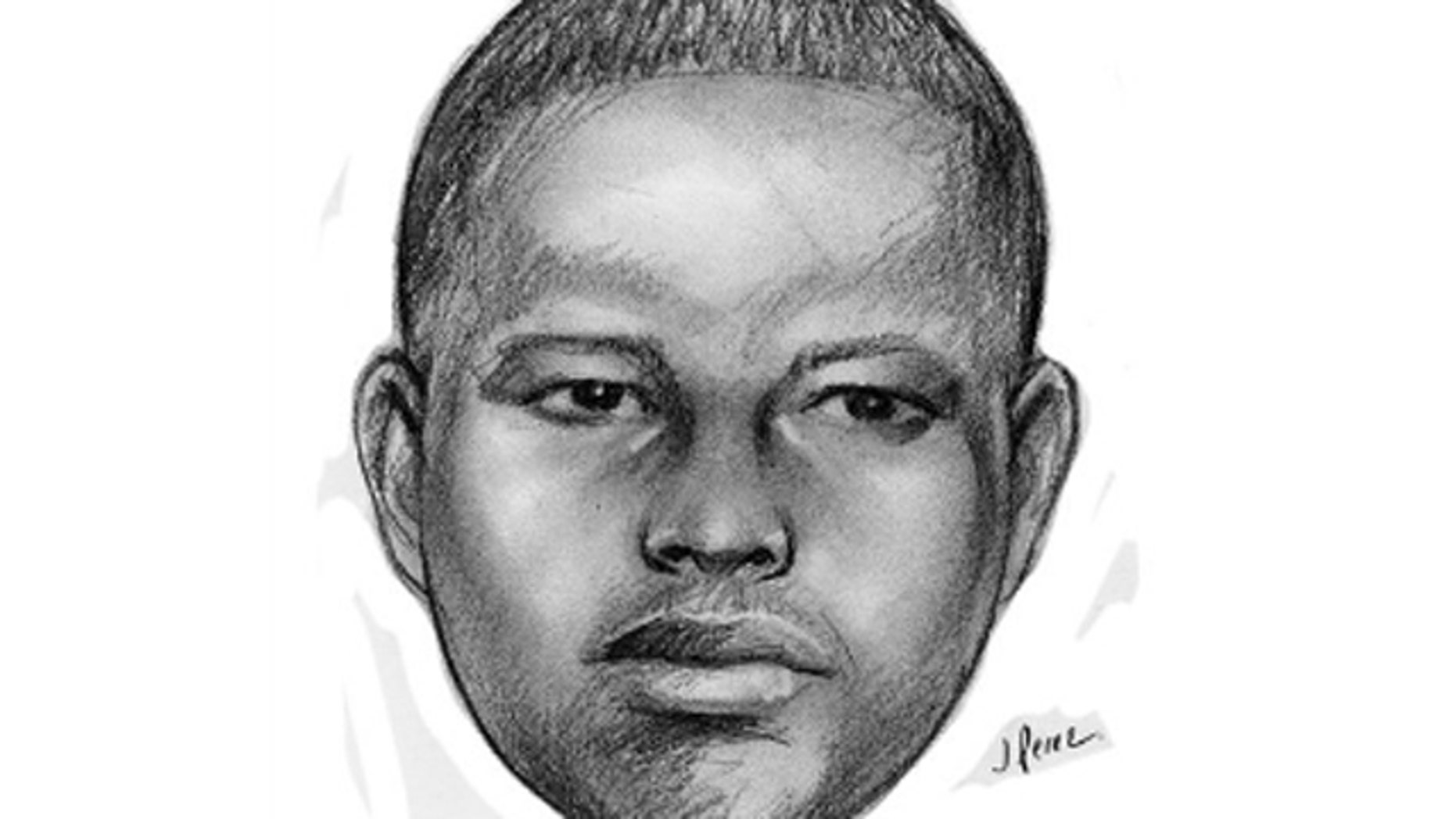 This sketch released by the New York Police Department shows a supsect wanted in a string of arson attacks on Sunday, Jan. 1, 2012 that involved throwing lit Molotov cocktails at four locations within the 103 precinct in the Queens borough of New York.