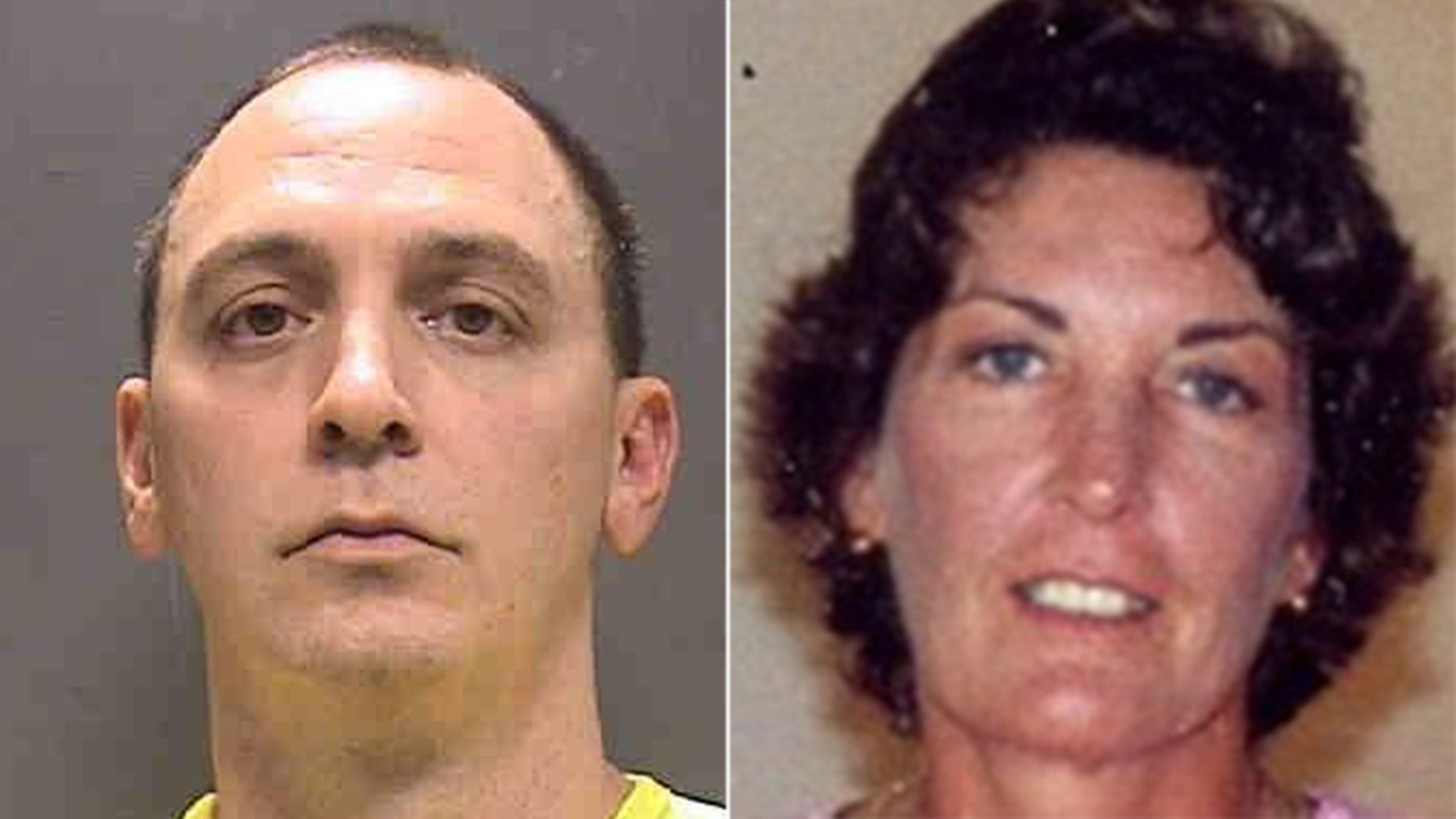 Mugshot (l) for Luke Fleming, 39, was arrested Wednesday and accused of raping, beating and strangling Deborah Dalzell (r.) in her Sarasota home in March 1999.