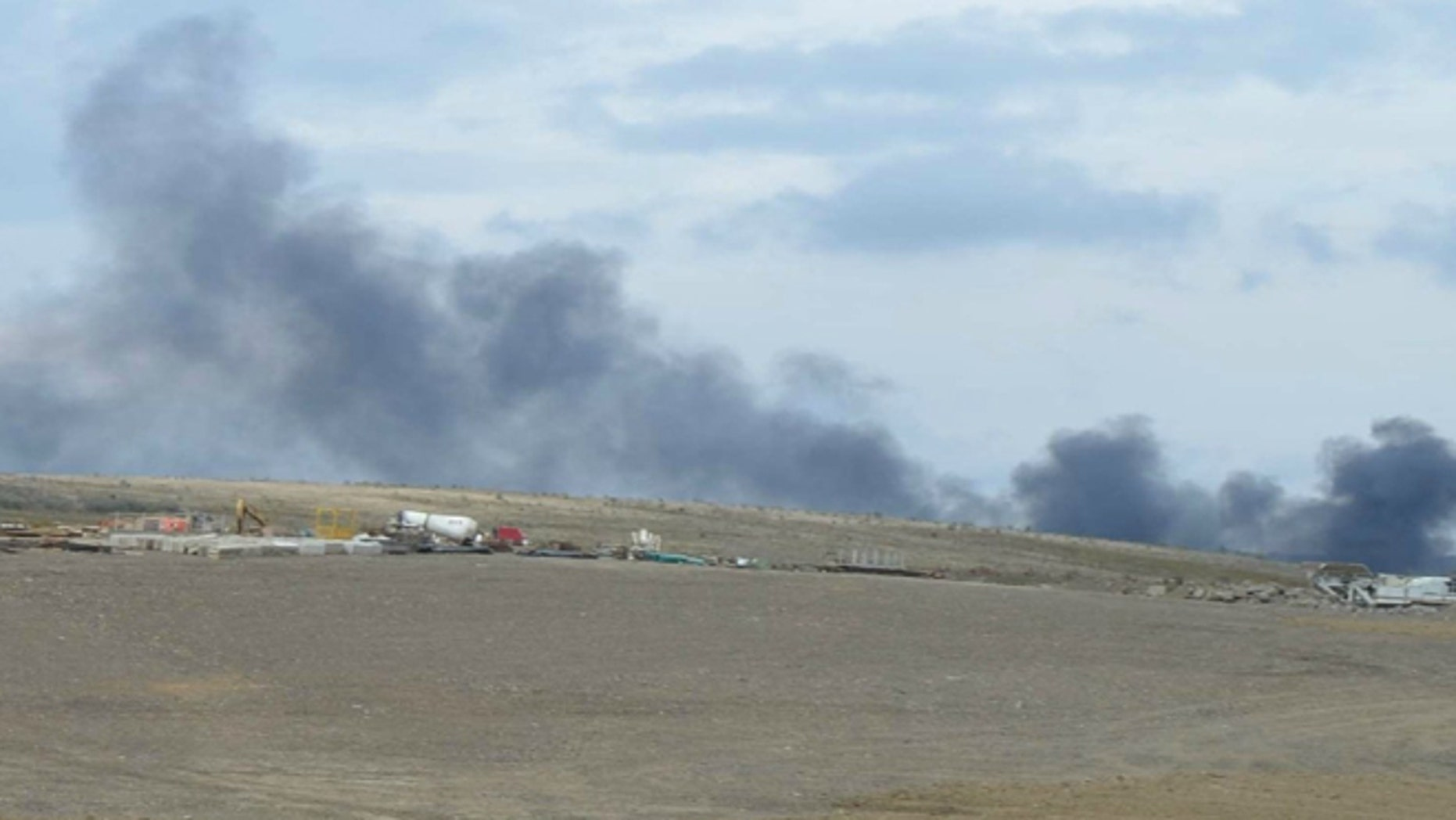 A fire began about 3 p.m. and grew to include both the Flight 93 park office and park headquarters, according to a Somerset County emergency dispatcher. (AP/National Park Foundation)
