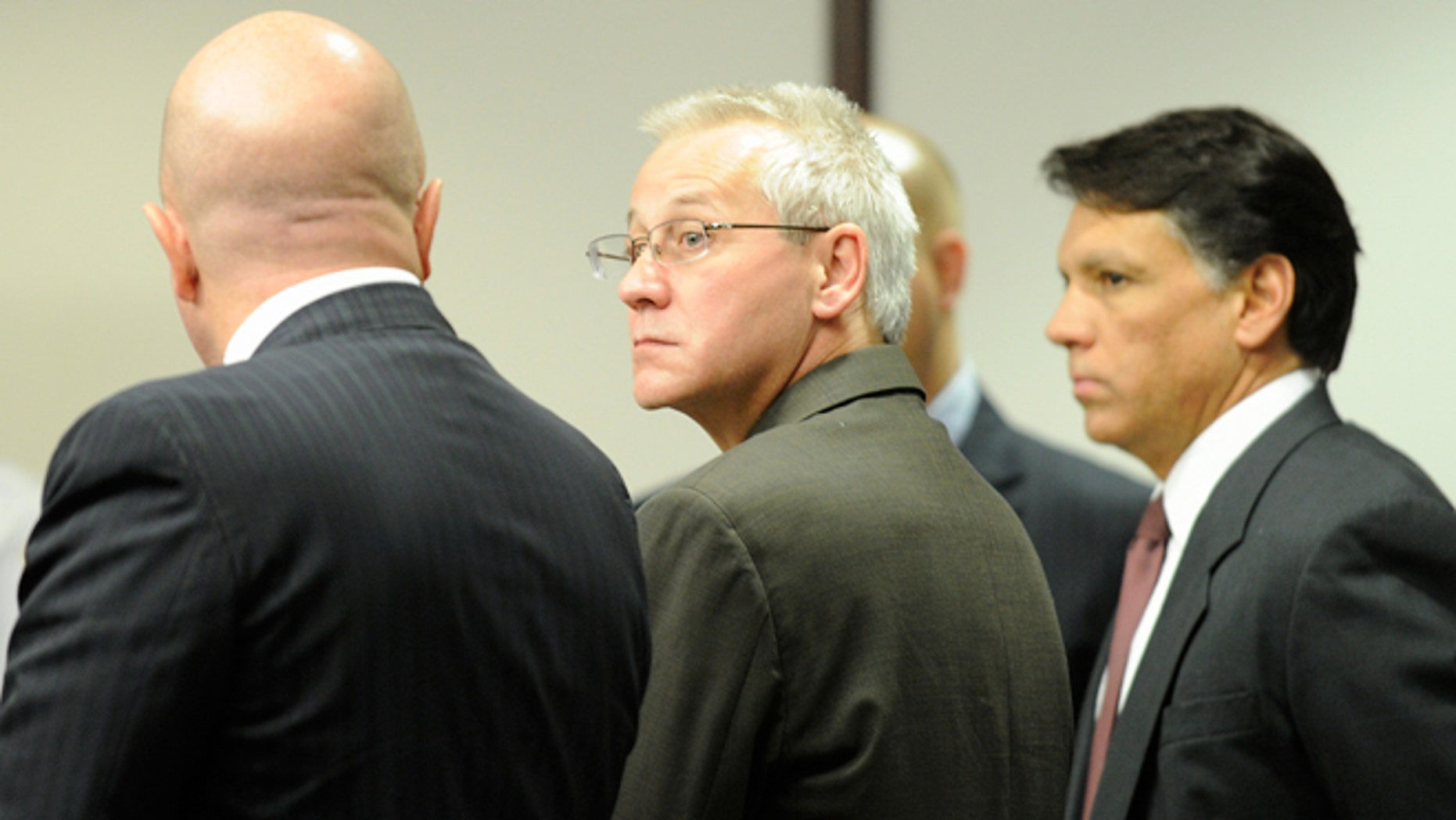 Oscar Ray Bolin Jr. watches as the jurors walk into the courtroom on April 19, 2012, in Tampa.