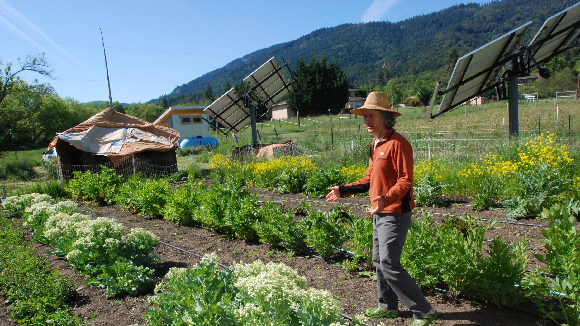 May 12, 2014: Chuck Burr explains his organic seed growing techniques on his farm outside Ashland, Ore.