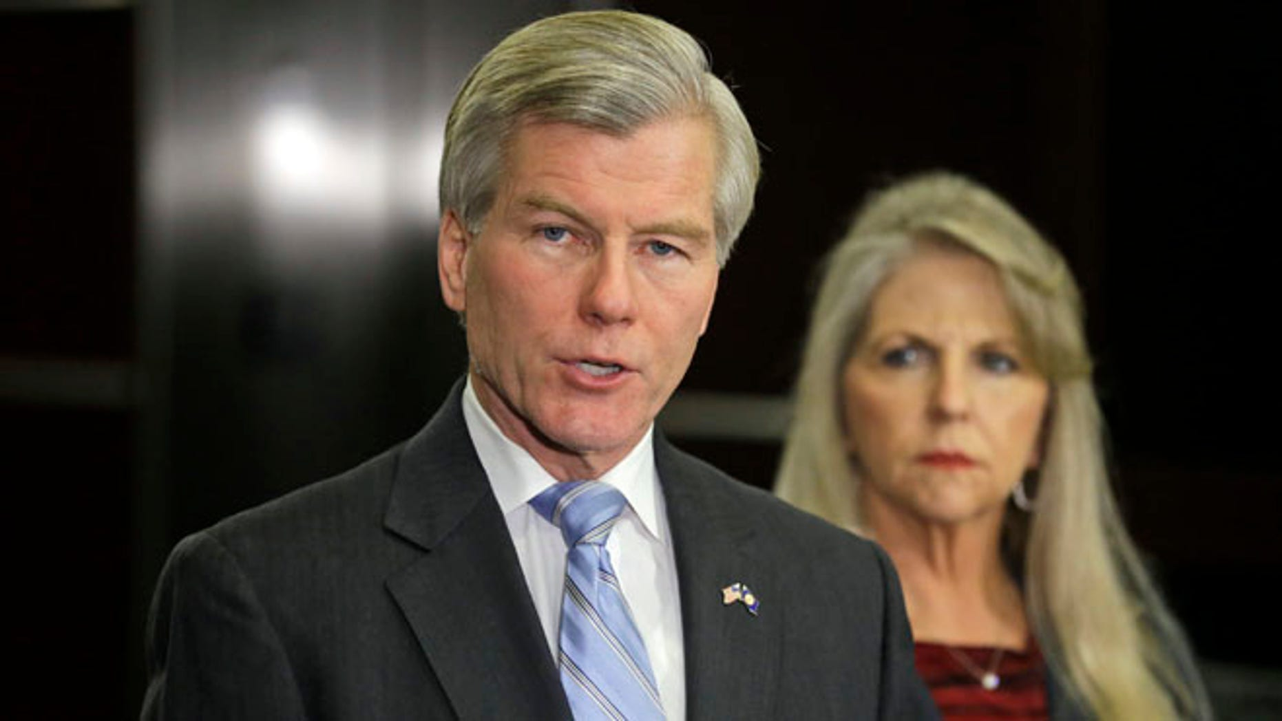 Jan. 21, 2014: Former Virginia Gov. Bob McDonnell speaks during a news conference in Richmond, Va., accompanied by his wife, Maureen.