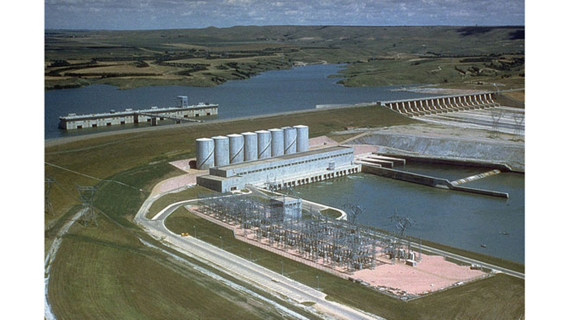 Aerial photo of the Fort Randall Dam in South Dakota. The hydroelectric power plant is one of six along the Missouri River that faces large furloughs for its workers due to the sequester.