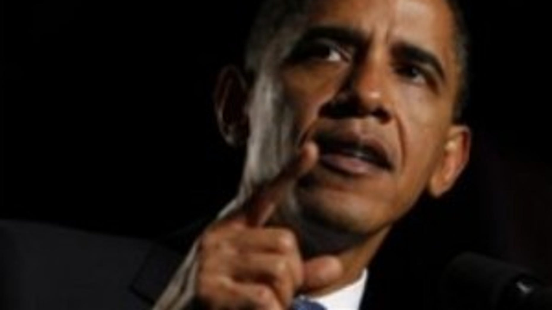 President Obama speaks at a DNC fundraiser in San Francisco, CA on Thursday evening. (AP Photo)