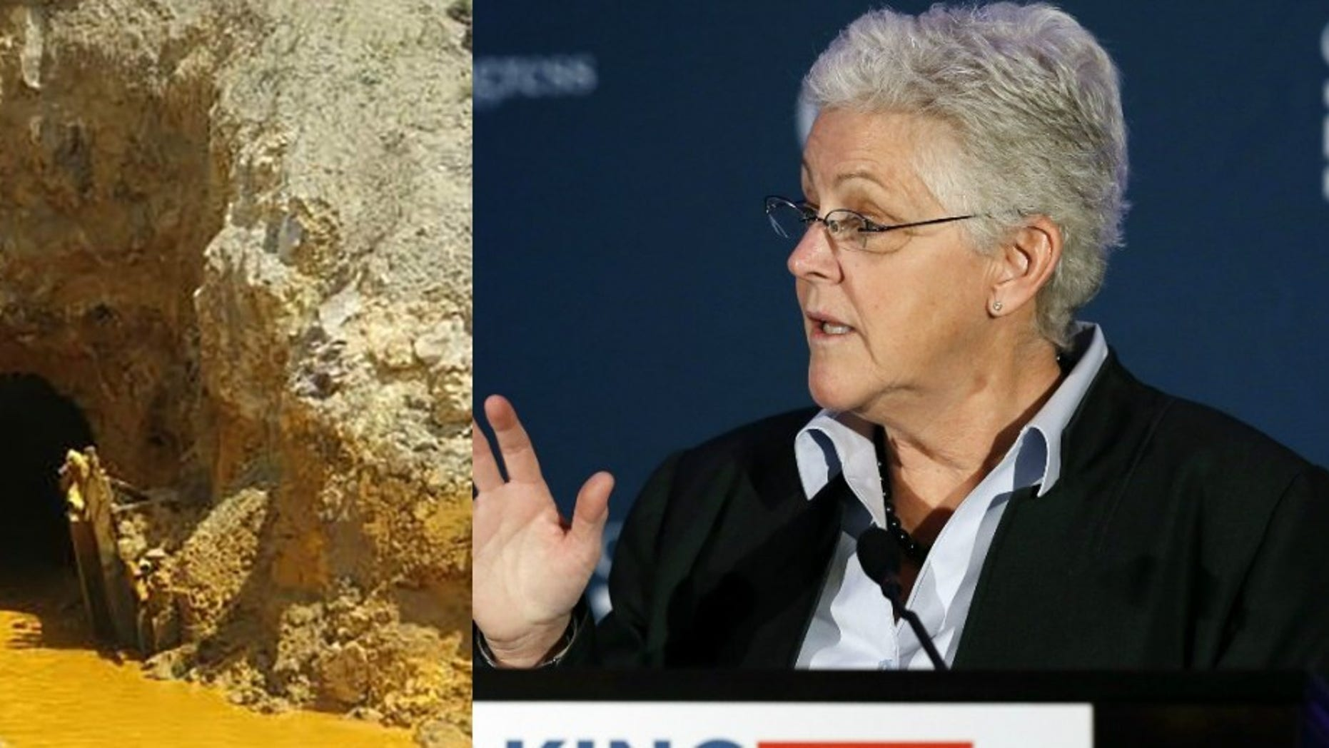 EPA Administrator Gina McCarthy and Gold King Mine. (Reuters)
