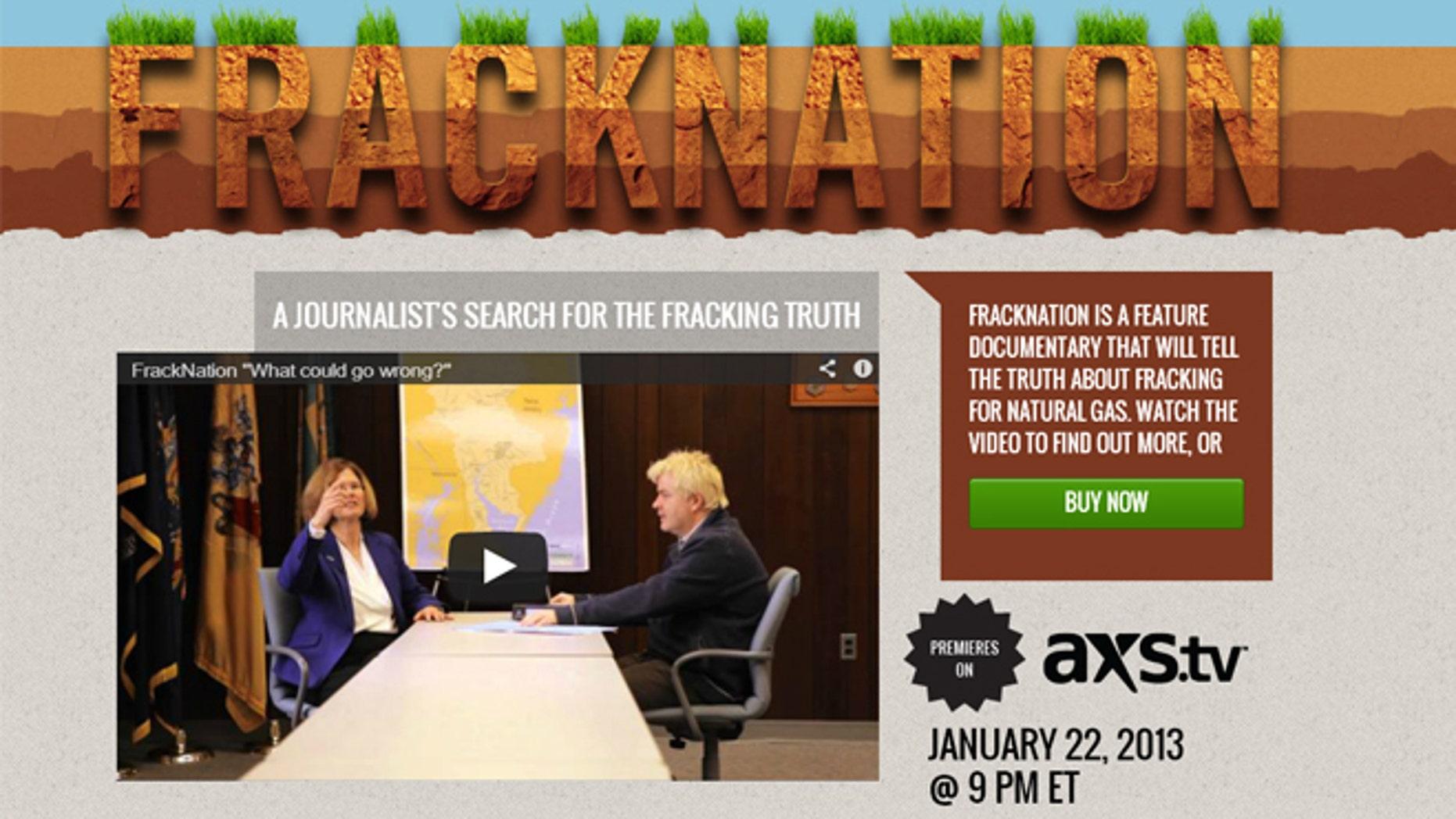 """""""FrackNation"""" premieres on Jan. 22, 2012."""