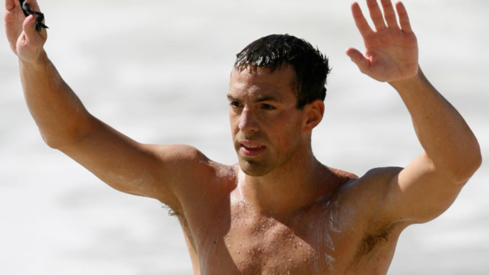 Fran Crippen, shown in a July 14, 2007 file photo, was competing in the FINA Open Water 10-kilometer World Cup in Fujairah, south of Dubai, but failed to finish and was found in the water two hours later.