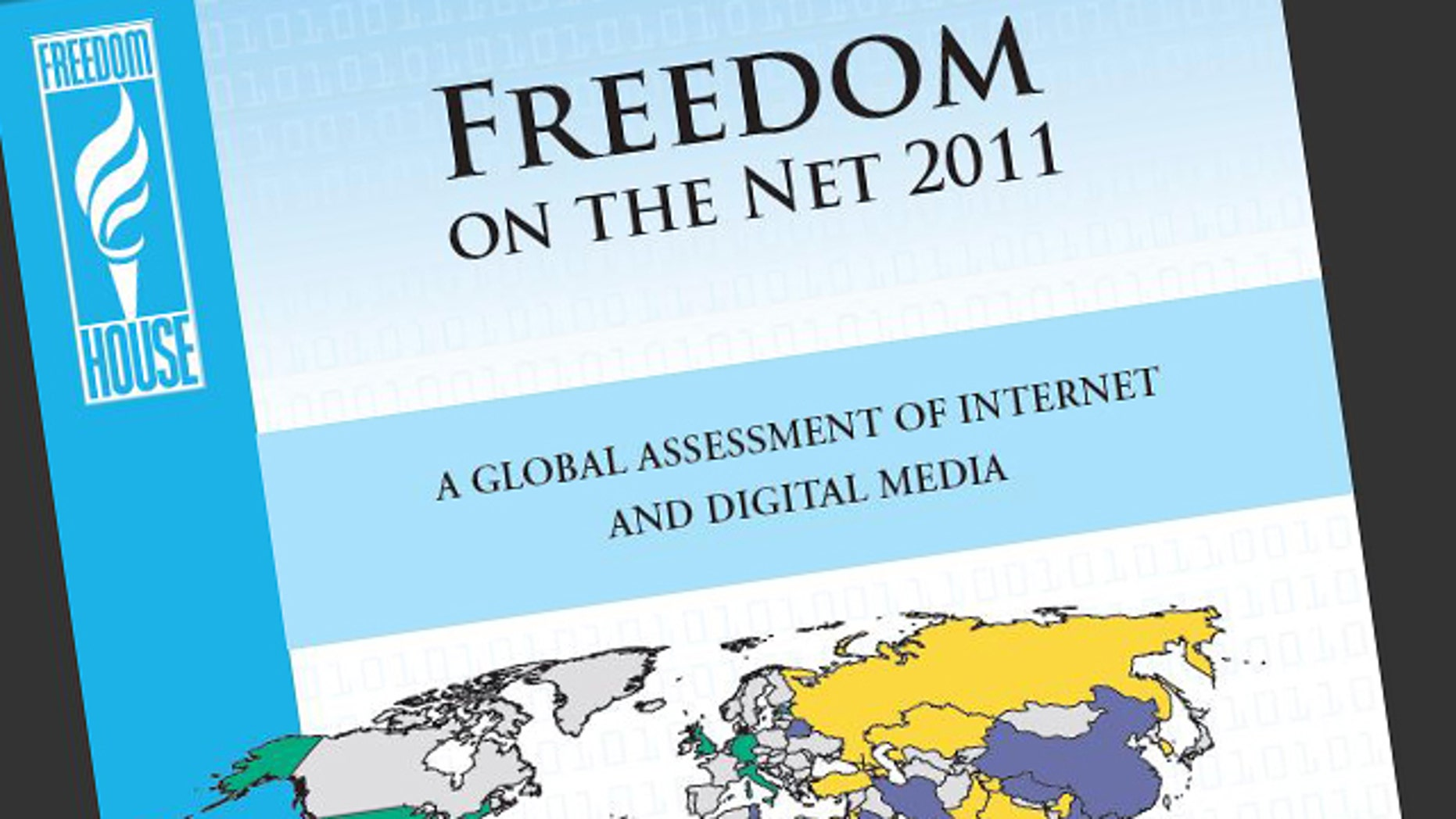The cover of a 2011 report ranking countries by how freely their citizens can access the Internet.