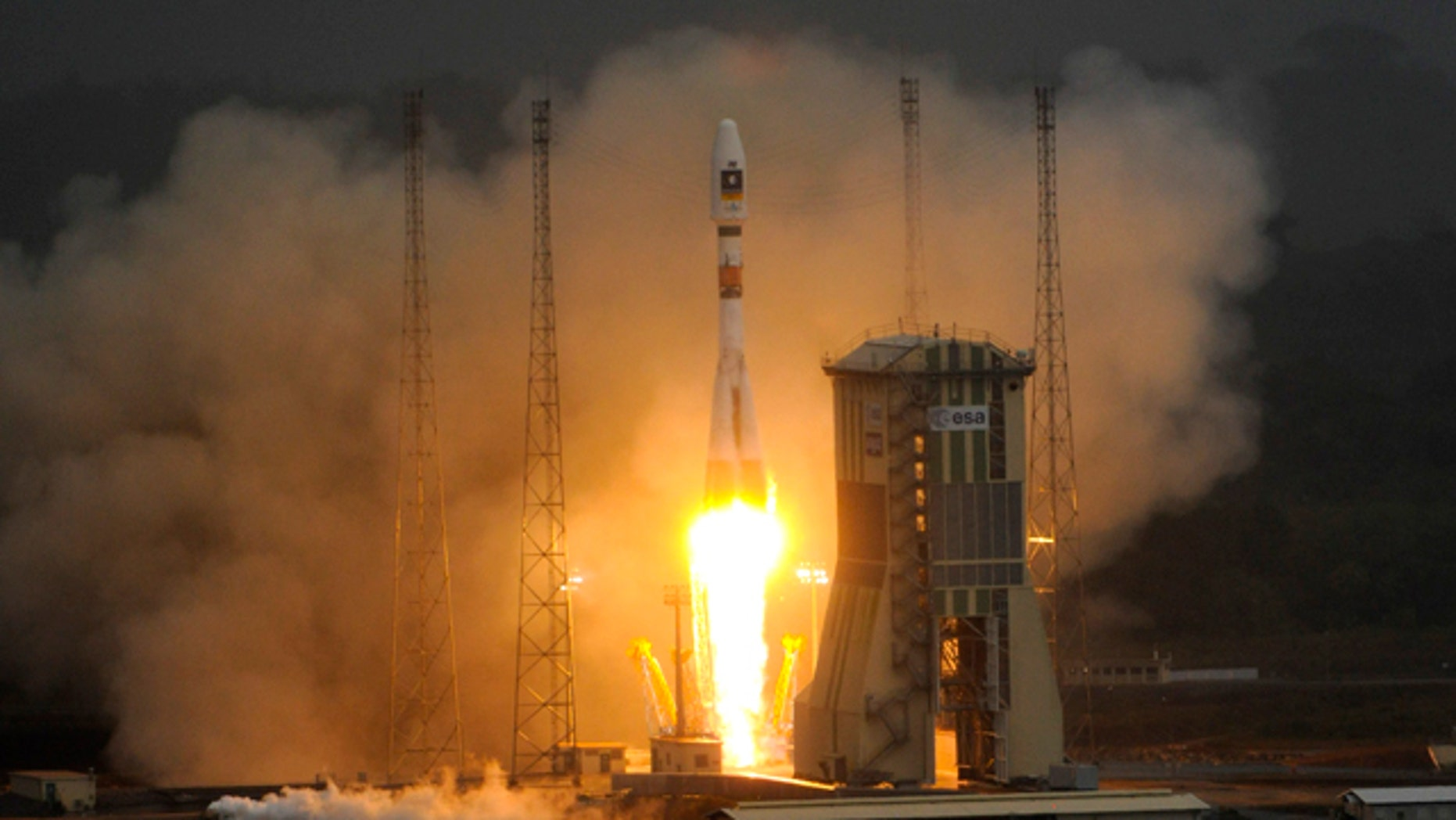 Oct. 21, 2011: Russia's Soyuz  rocket lifts off, for the first time, from Europe's space base of Kourou, French Guiana -- carrying the first two satellites of the European Union's Galileo navigation system, the main rival to the ubiquitous American GPS network.
