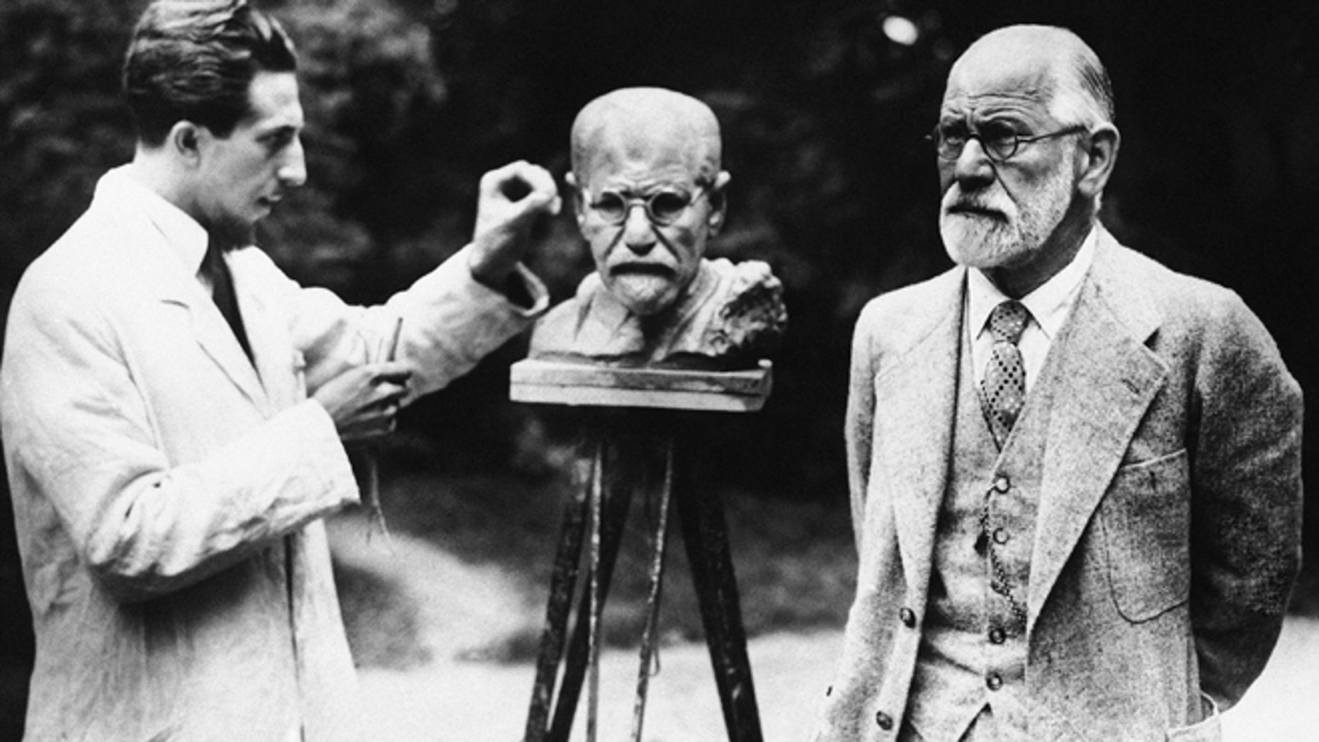 This is a 1931 file photo of Sigmund Freud, father of psychoanalysis, as he poses for sculptor Oscar Nemon in Vienna.