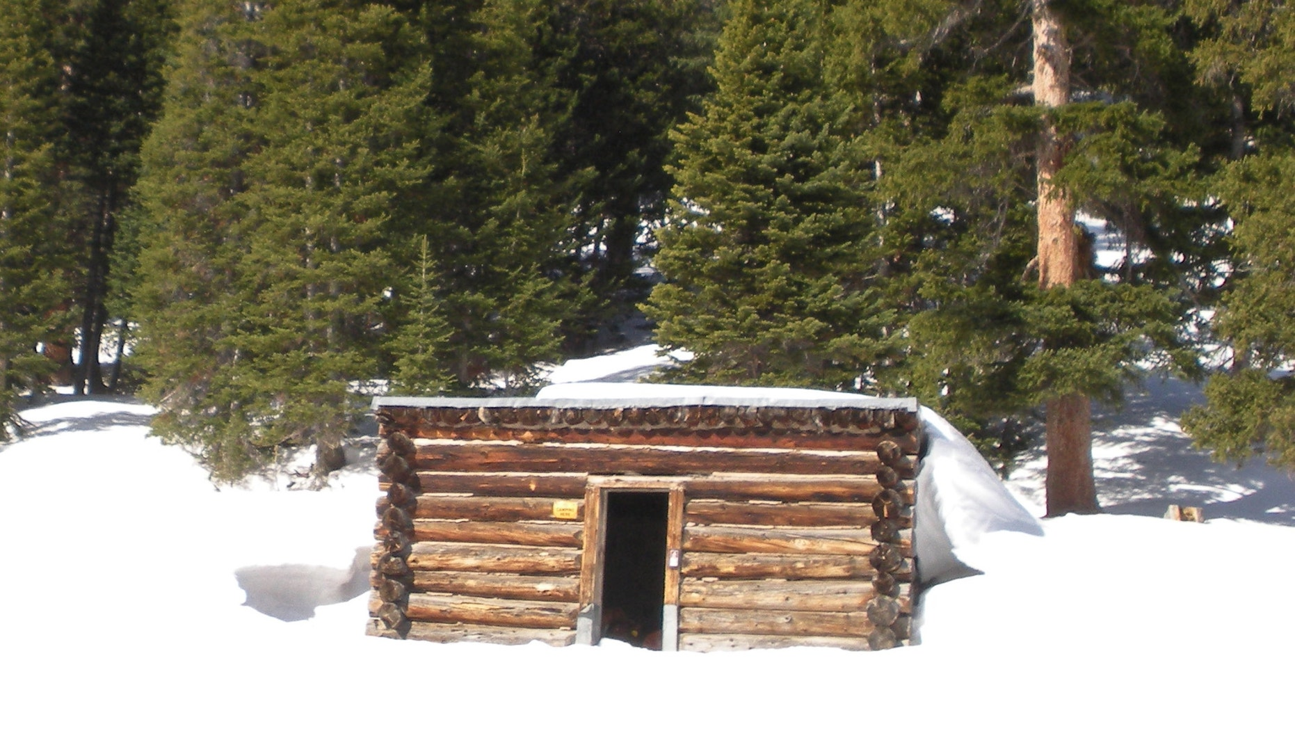 April 6: This photo provided by the U. S. Forest Service shows the Conundrum Creek Cabin, in the White River National Forest, near Aspen, Colo., where as many as six cows remain that froze to death.
