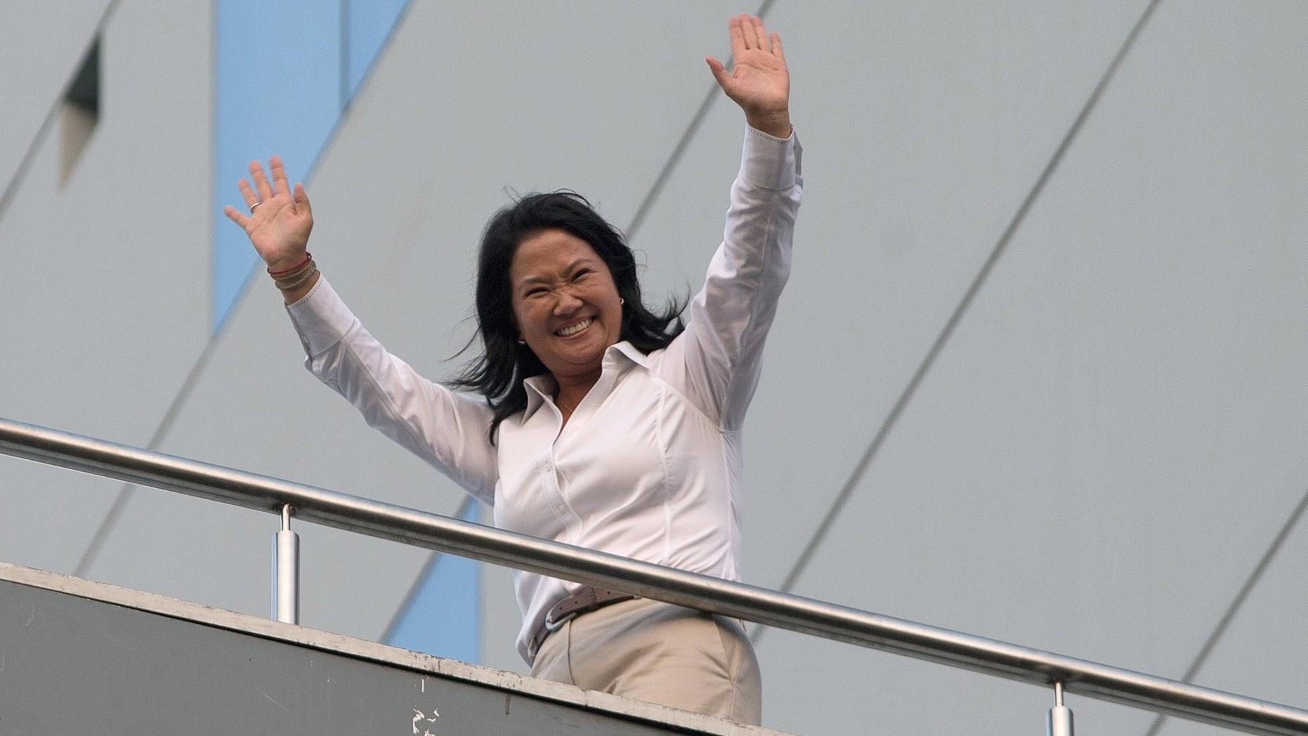 Presidential candidate Keiko Fujimori in Lima, Peru, Sunday, April 10, 2016.