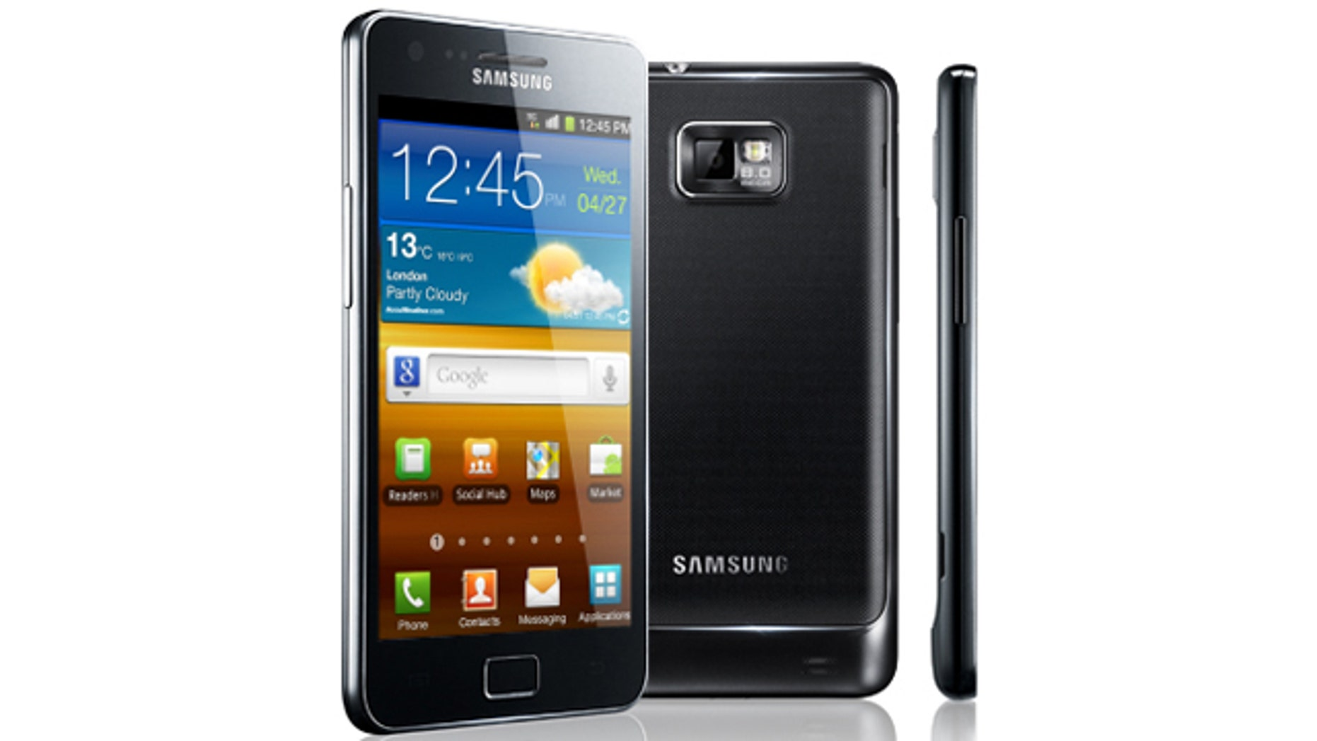 The Samsung Galaxy S II, possibly the biggest threat to the Apple iPhone's dominance of the smartphone market.