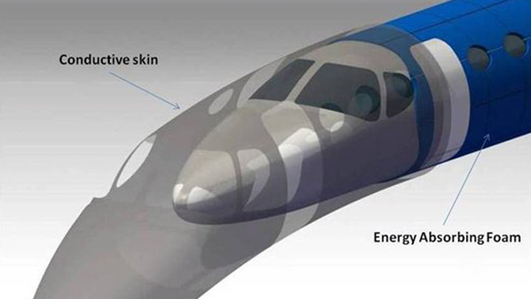 A self-healing 'magic skin' being developed by Cessna would protect the exterior of an aircraft from lightning, extreme temperatures, and more.
