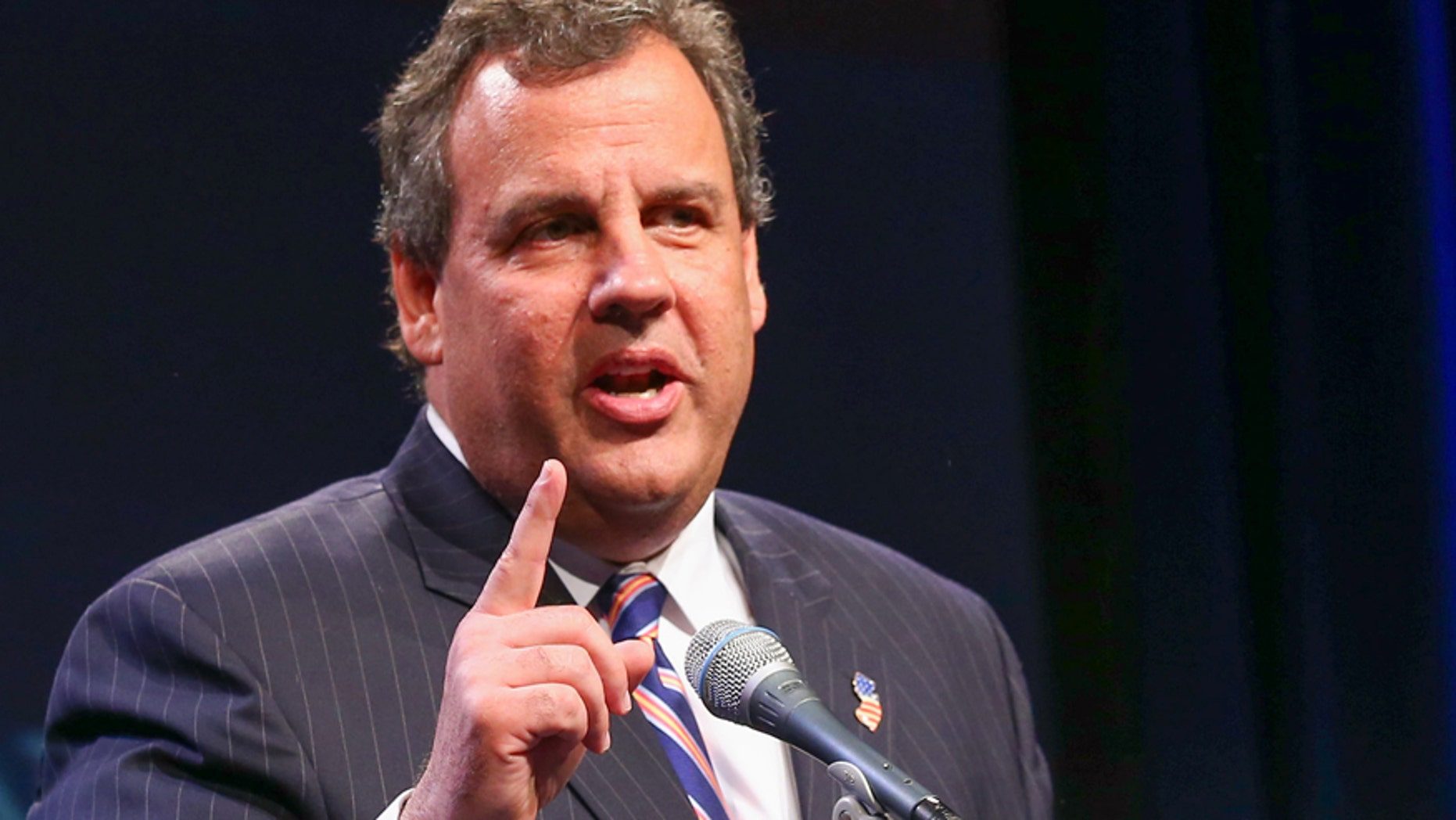 This May 30, 2014 file photo shows New Jersey Gov. Chris Christie dspeaking in Nashville, Tennessee.