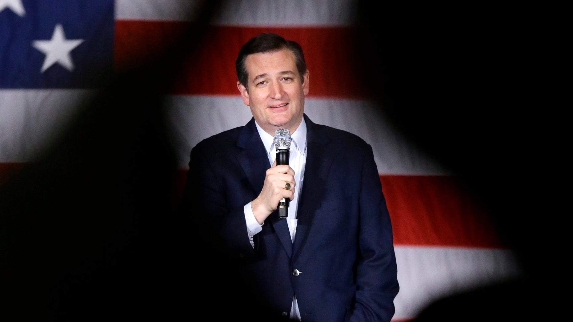 In this April 4, 2016, photo, Republican presidential candidate, Sen. Ted Cruz, R-Texas, speaks at a campaign stop at Waukesha County Exposition Center in Waukesha, Wis. Cruz is increasingly winning over voters to his presidential bid. Heâs still not winning over fellow Republican senators. The Texas Republican is notorious for alienating his colleagues with tactics including pushing a fruitless government shutdown in 2013 and accusing the Senate majority leader of lying. Theyâre now paying it back by refusing to get on board with his presidential bid even as he emerges as the likeliest alternative to businessman Donald Trump following a commanding win Tuesday night in Wisconsin.(AP Photo/Nam Y. Huh)