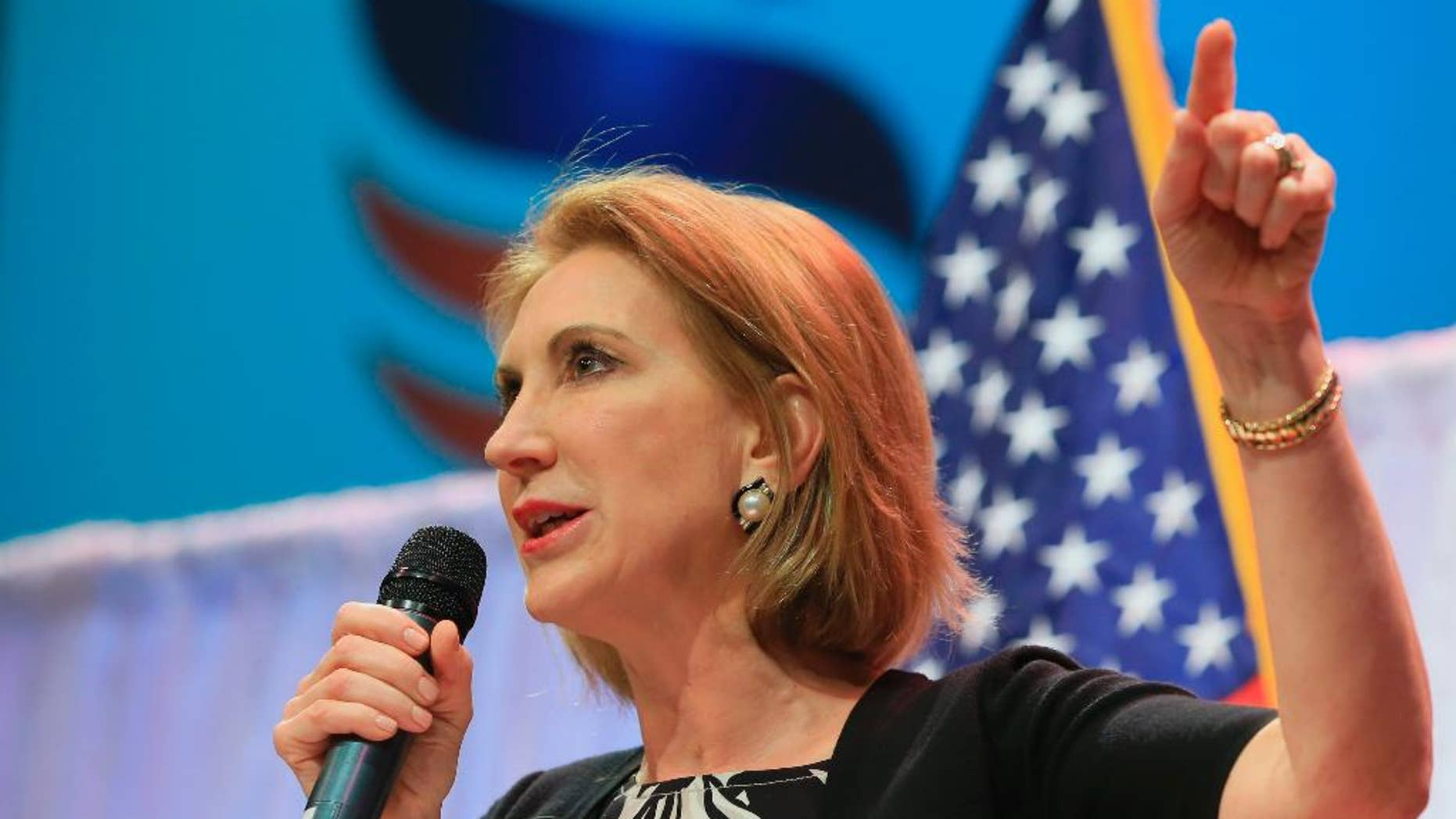 FILE -- Republican presidential candidate Carly Fiorina.