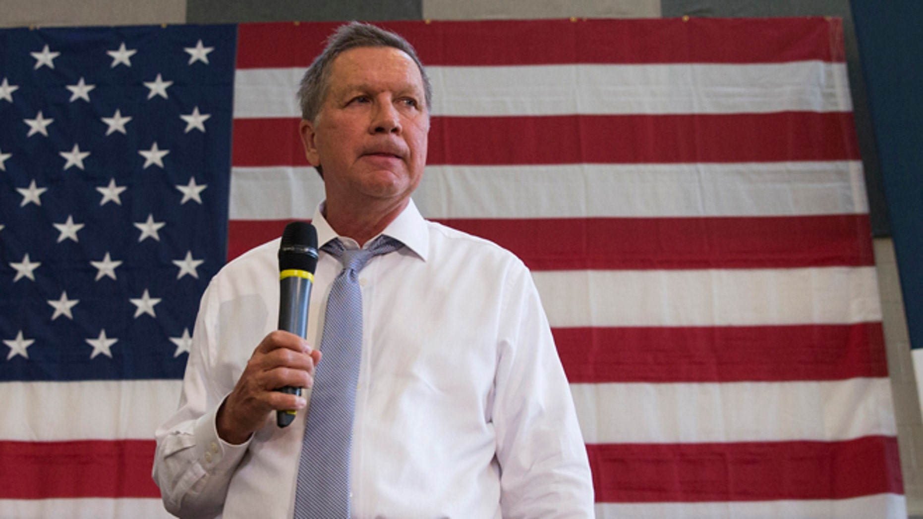 Ohio Gov. John Kasich at Thomas farms Community Center in Rockville, Md. on April 25, 2016.
