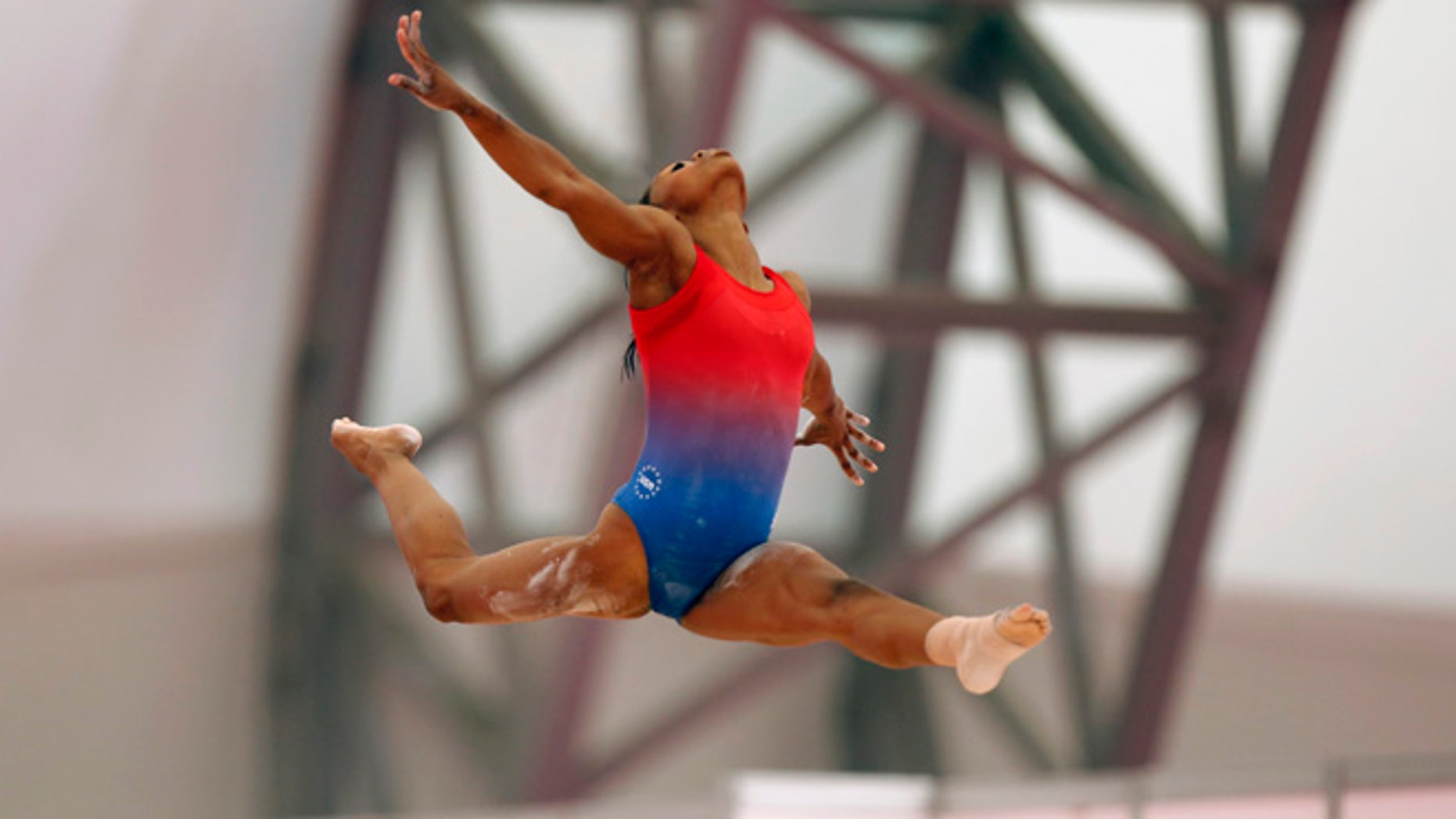 Gabby Douglas training at the London games in 2012.