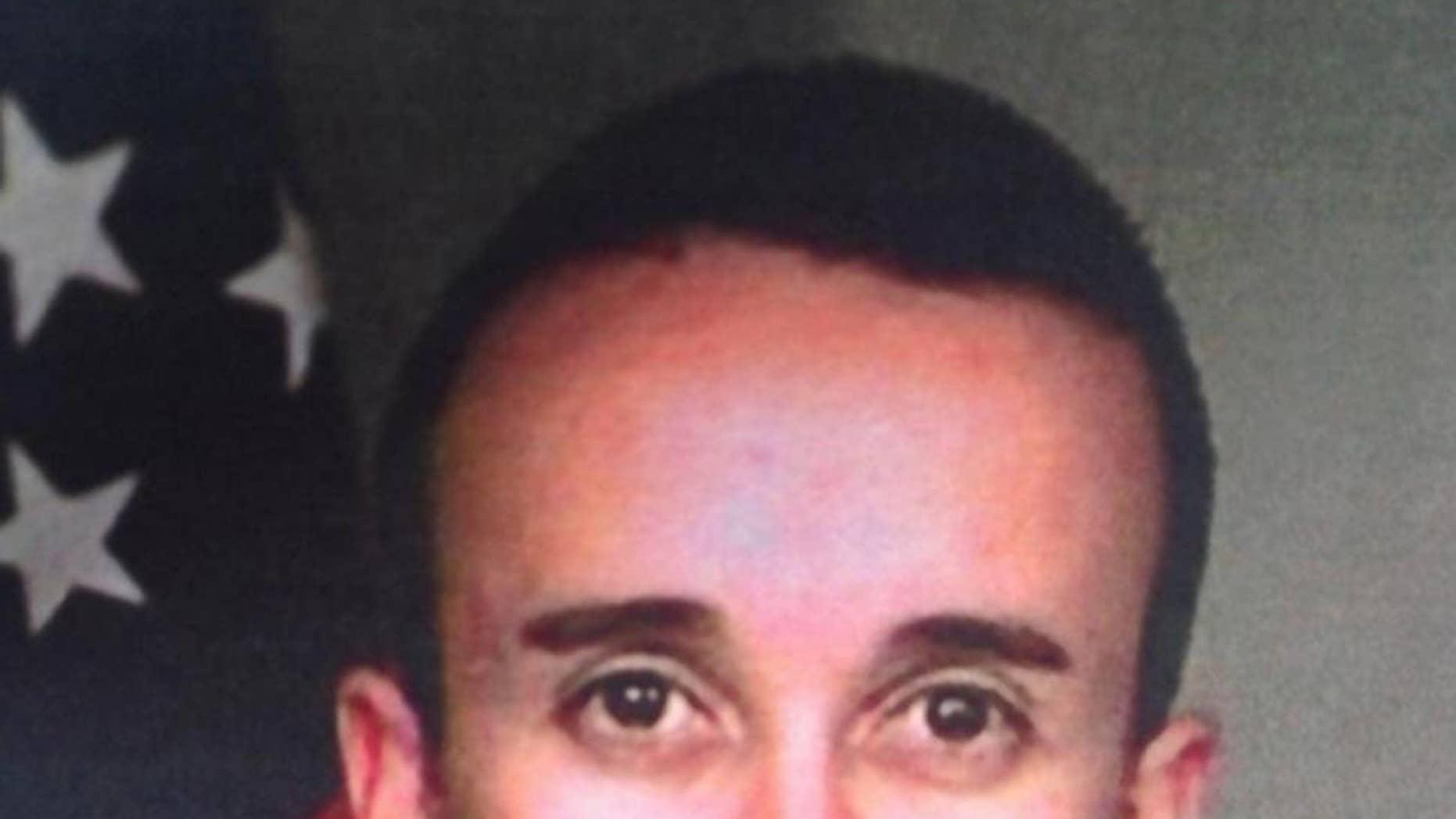 A photo of wounded San Bernardino police officer Gabriel Garcia.
