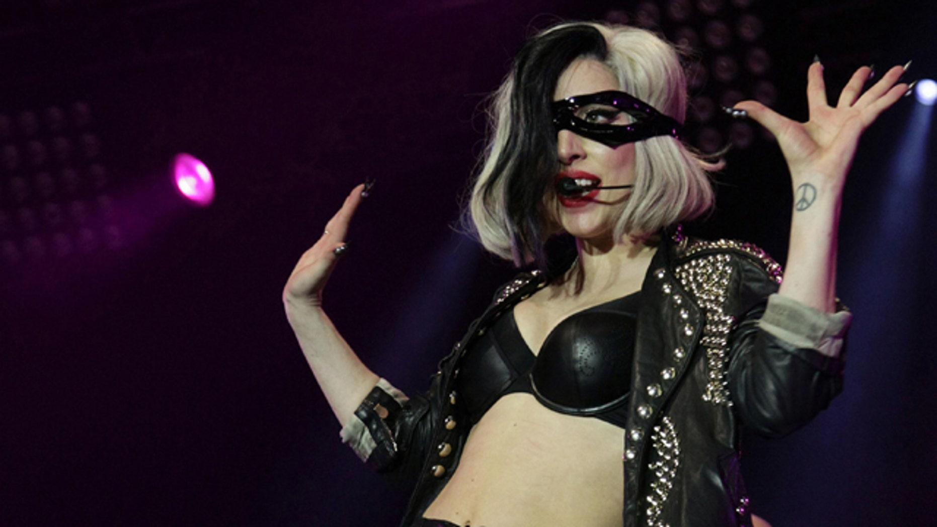 May 15: Lady Gaga performs on the Main Stage at BBC Radio 1's Big Weekend, held at Carlisle Airport, Britain.