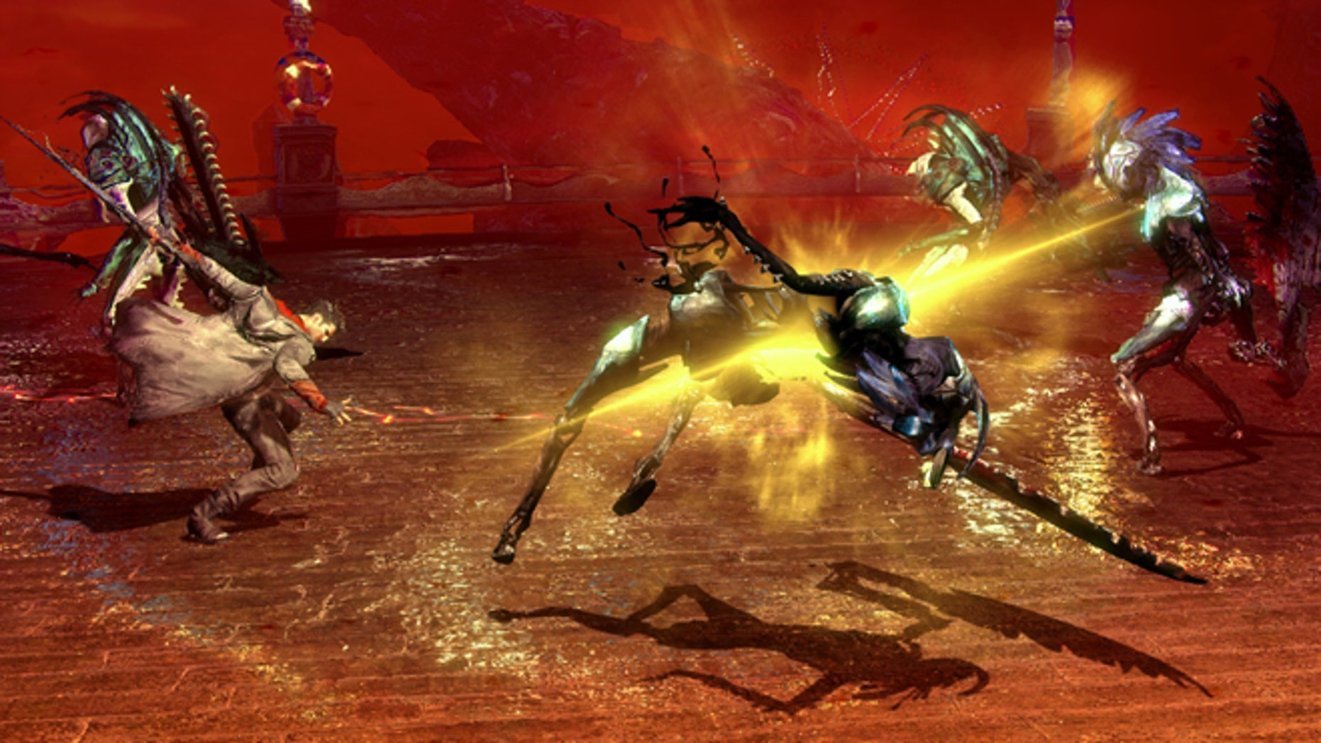 """This video game image released by Capcom shows a scene from """"DmC: Devil May Cry."""""""