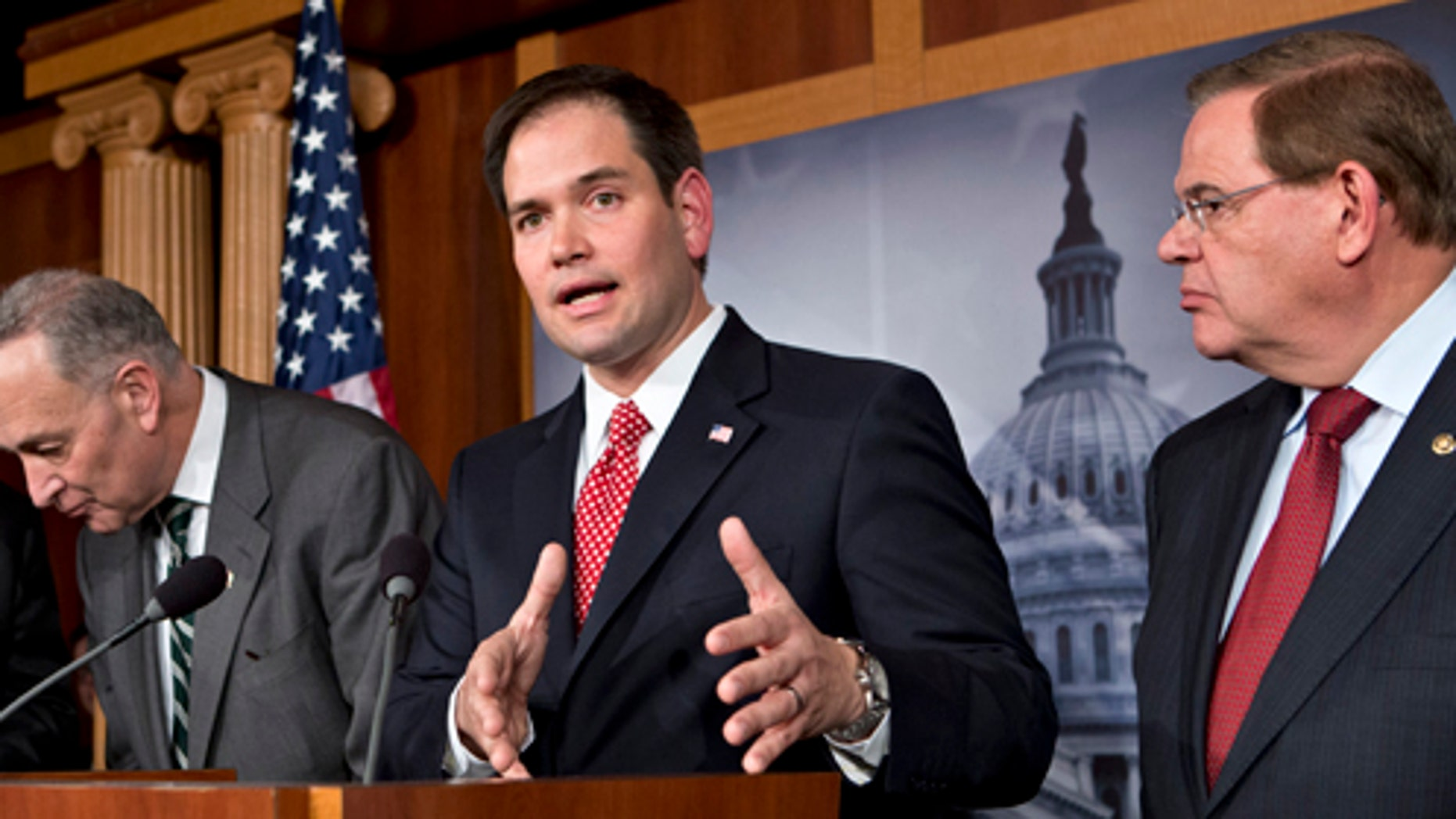 A bipartisan Senate group is working on its own comprehensive immigration reform bill.