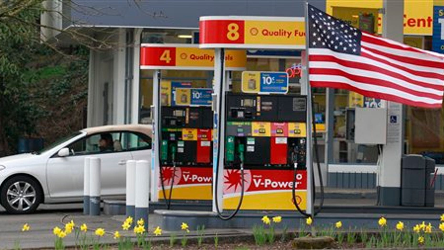 April 12: A gas station in Portland, Oregon. Gasoline jumped 5.6 percent last month and has risen nearly 28 percent in the past year.