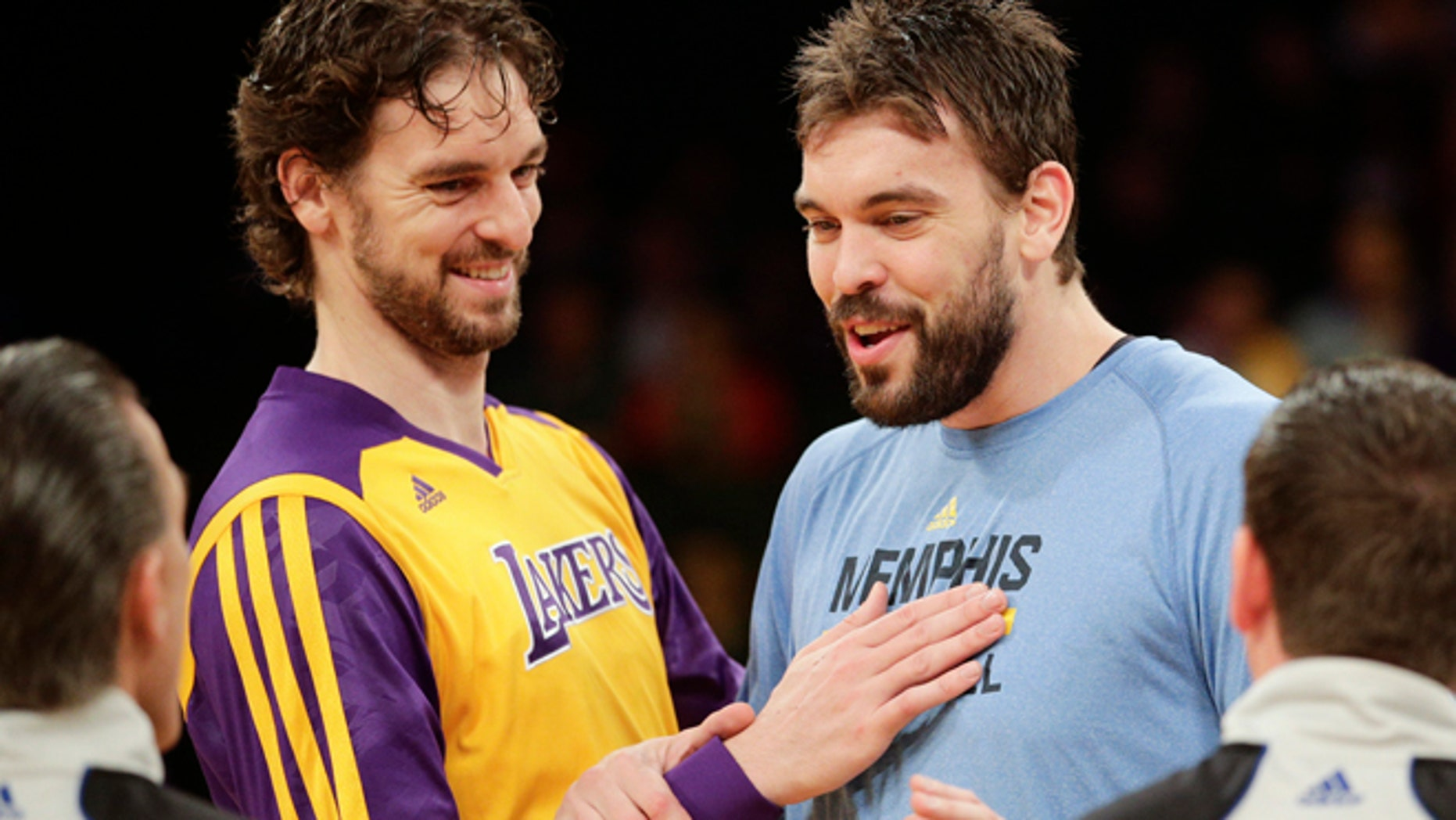 Pau Gasol, left, and his brother, Memphis Grizzlies' Marc Gasol in a Nov. 15, 2013, file photo.