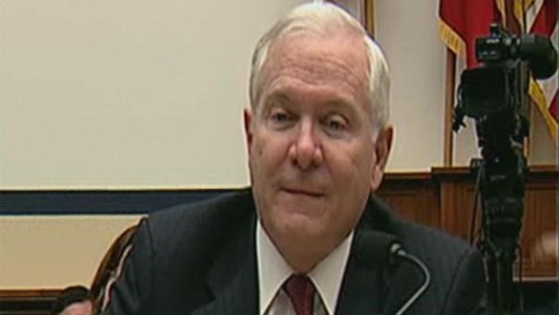 Thursday: Defense Secretary Robert Gates at a House Armed Services Committee hearing.