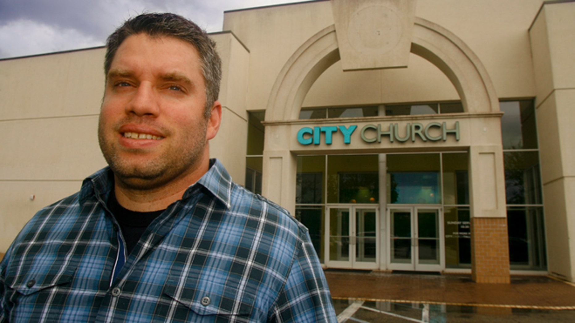 Aug 20, 2013: City Church of Tallahassee Pastor Dean Inserra stands outside his church in Tallahassee, Fla.