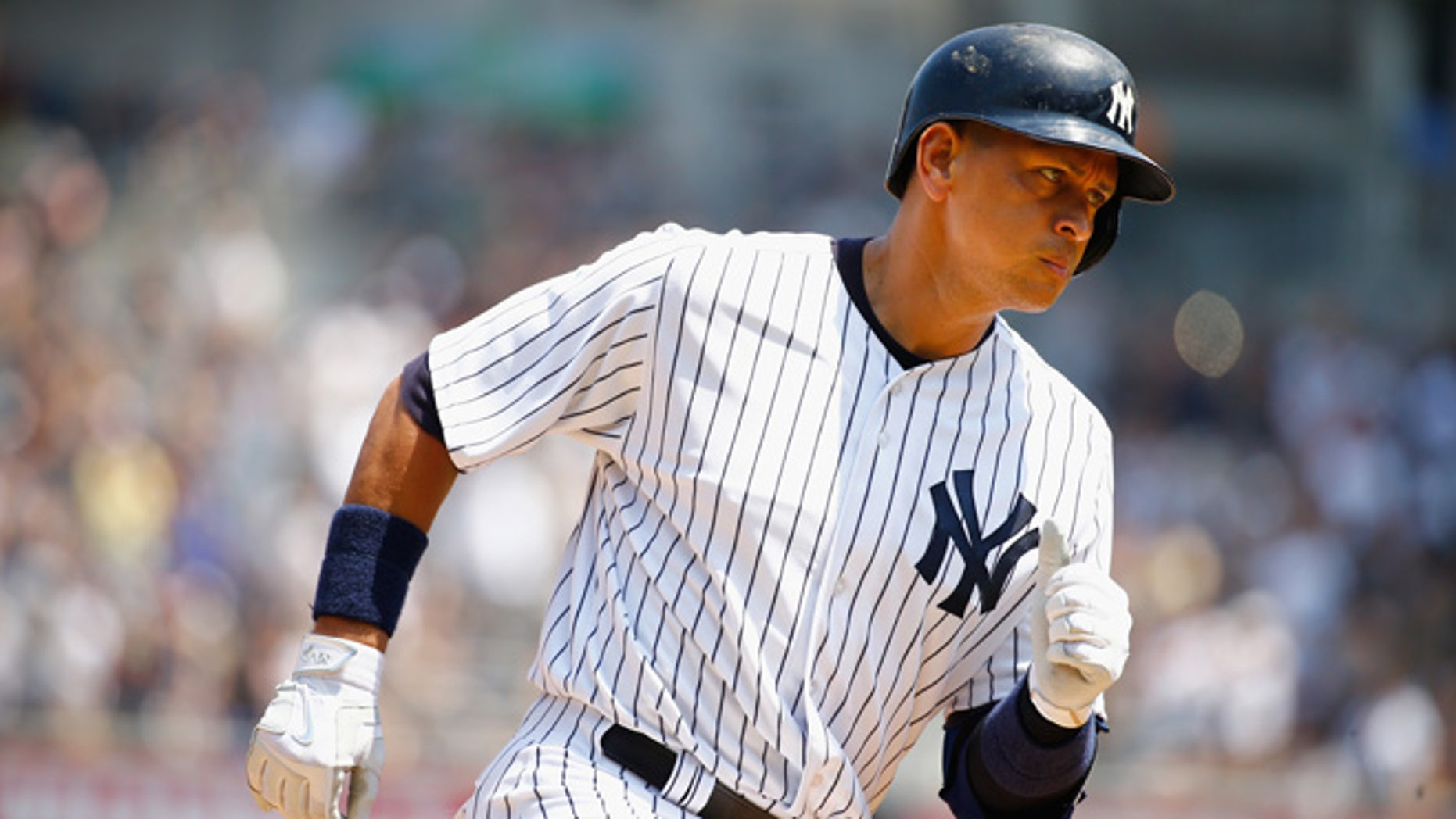 NEW YORK, NY - MAY 27:  Alex Rodriguez #13 of the New York Yankees rounds the bases after hitting a three-run home run against Chris Young #32 of the Kansas City Royals in the third inning during their game at Yankee Stadium on May 27, 2015 in New York City.  Rodriguez's three-run home run gave him 1,995 RBIs, moving him past Lou Gehrig on the all-time RBI list. (Photo by Al Bello/Getty Images)