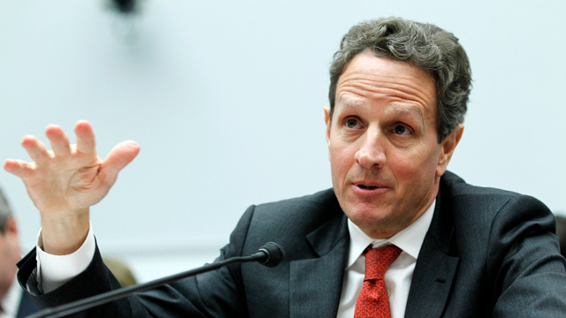 March 1: Treasury Secretary Timothy Geithner testifies on Capitol Hill in Washington.