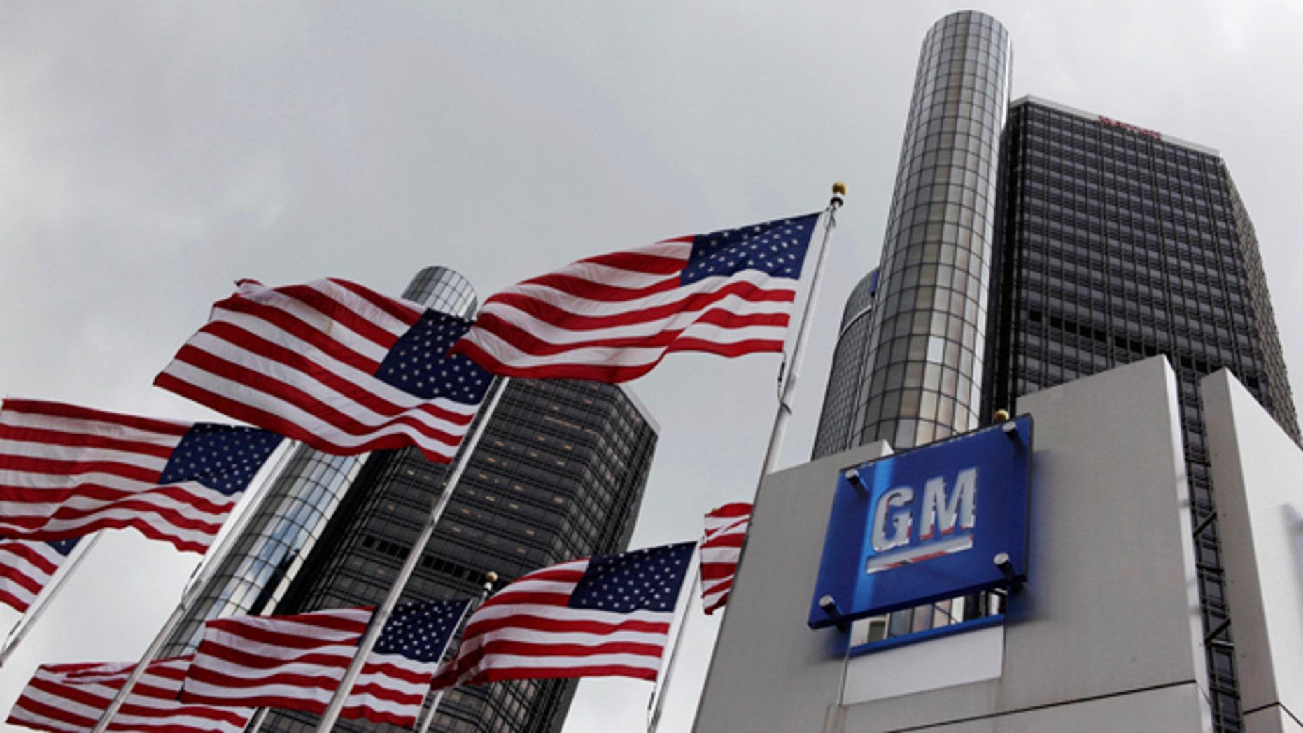 FILE - April 21, 2009: General Motors world headquarters in Detroit. (AP Photo/Paul Sancya, File)