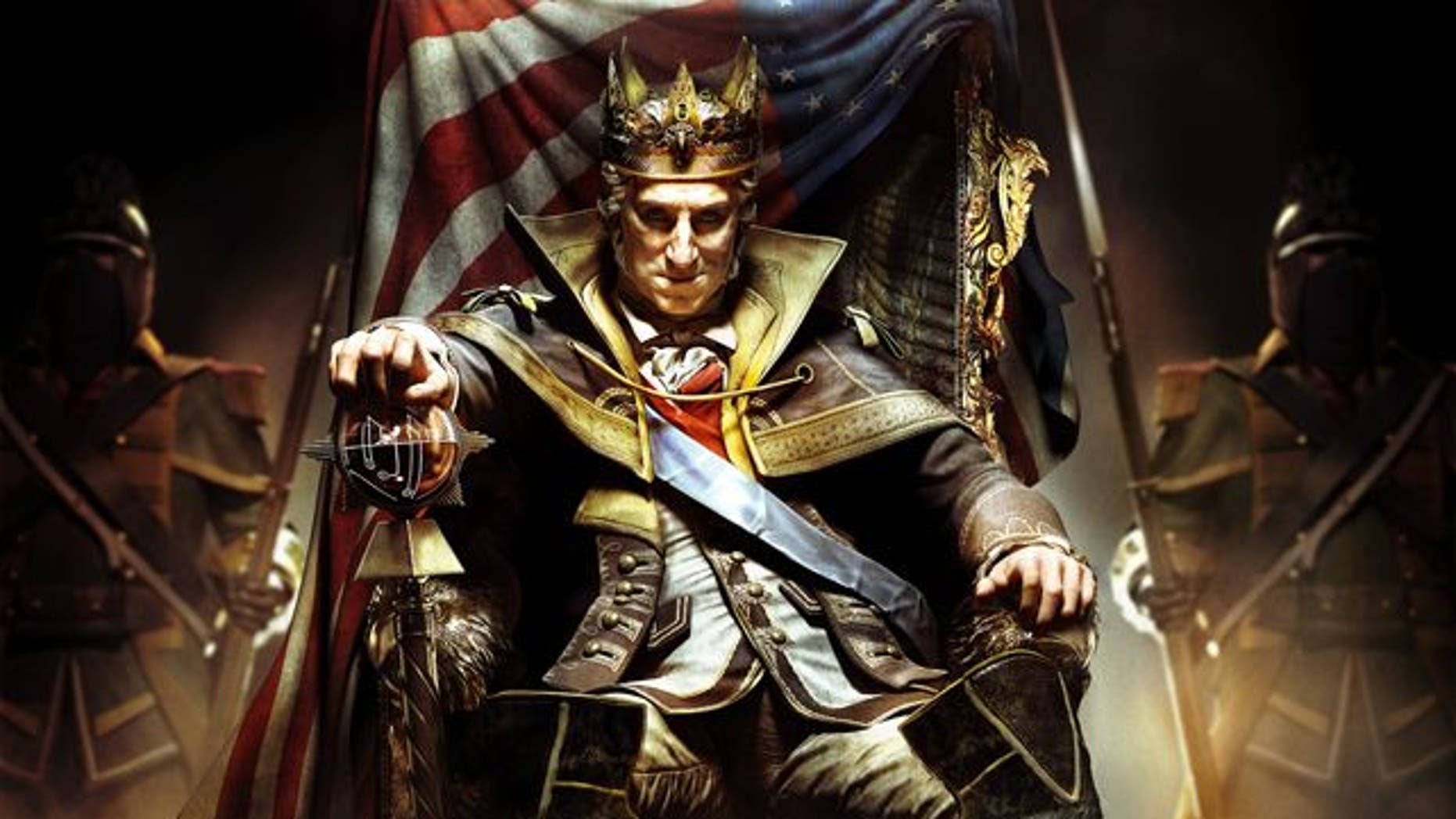 This undated handout image provided by Ubisoft shows a scene from the Ubisoft game: the Tyranny of King Washington.
