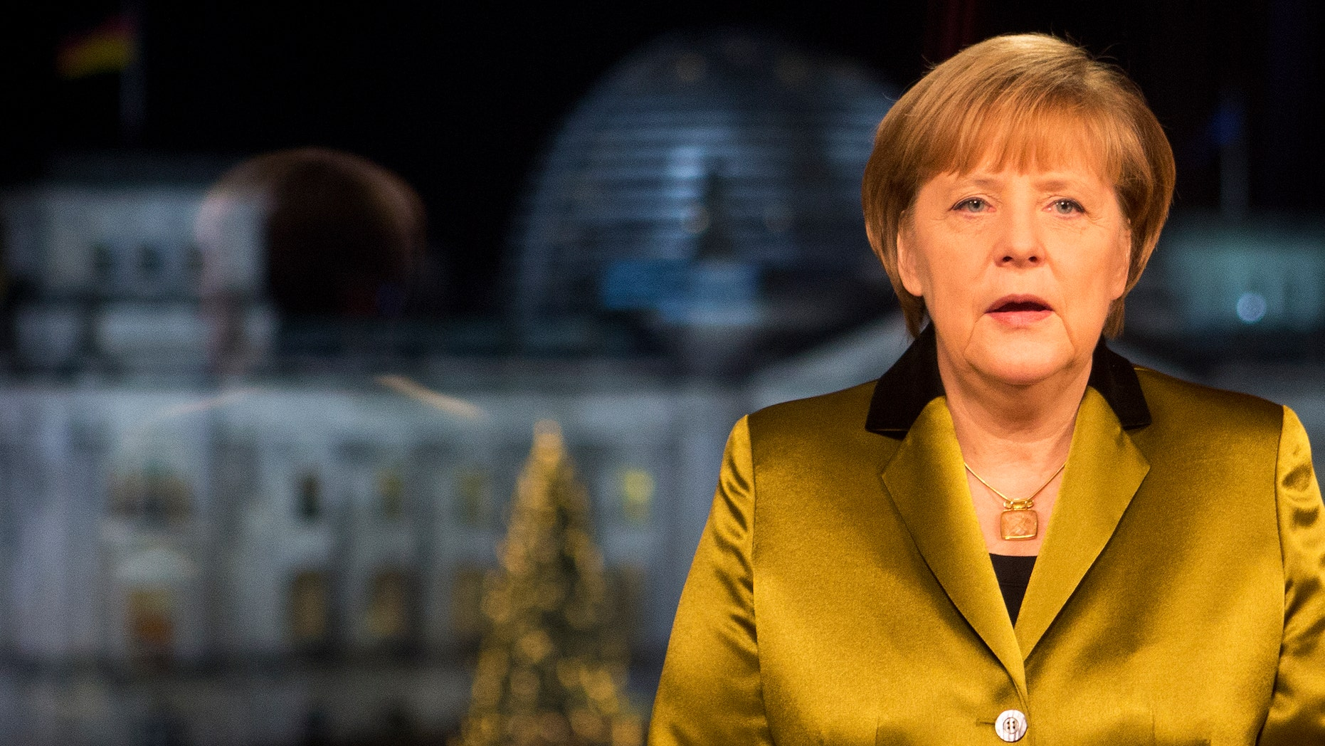 Dec. 30, 2013 - German Chancellor Angela Merkel after the recording of her annual New Year's speech at the Chancellery in Berlin, Germany.