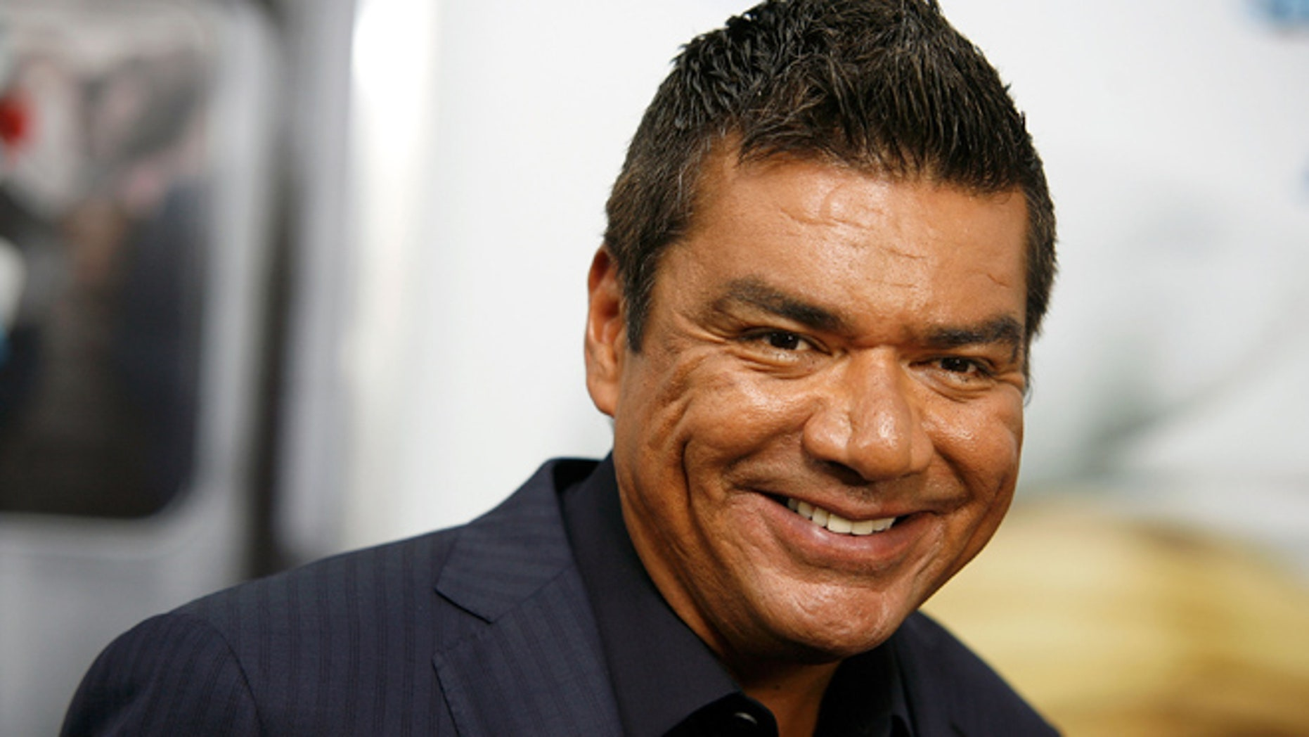 "NEW YORK, NY - JULY 24:  George Lopez attends the premiere of ""The Smurfs"" at the Ziegfeld Theater on July 24, 2011 in New York City.  (Photo by Andy Kropa/Getty Images)"