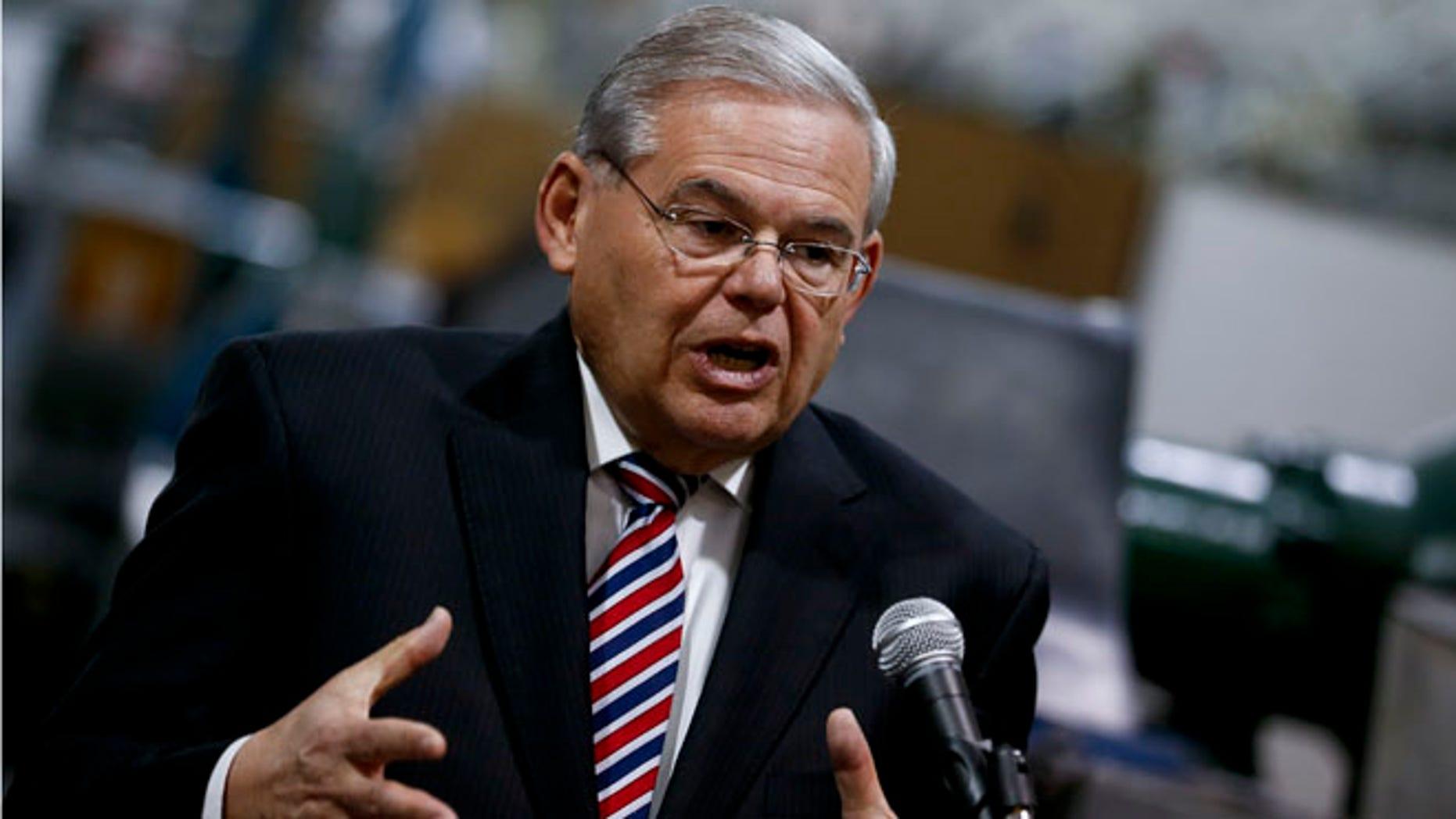 U.S. Sen. Robert Menendez on March 23, 2015 in Garwood, New Jersey.