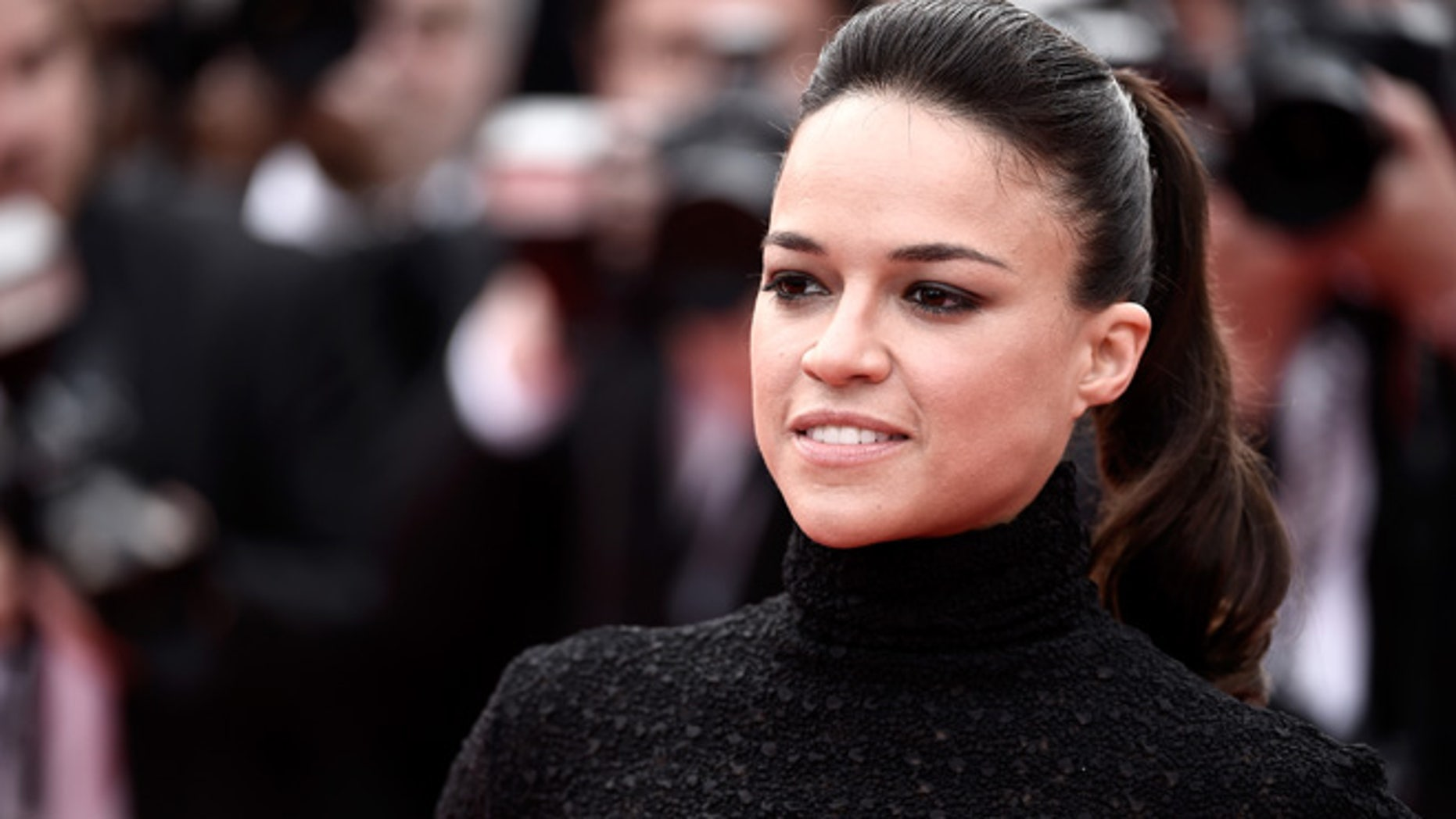 """CANNES, FRANCE - MAY 24:  Actress Michelle Rodriguez attends the closing ceremony and Premiere of """"La Glace Et Le Ciel"""" (""""Ice And The Sky"""") during the 68th annual Cannes Film Festival on May 24, 2015 in Cannes, France.  (Photo by Ian Gavan/Getty Images)"""