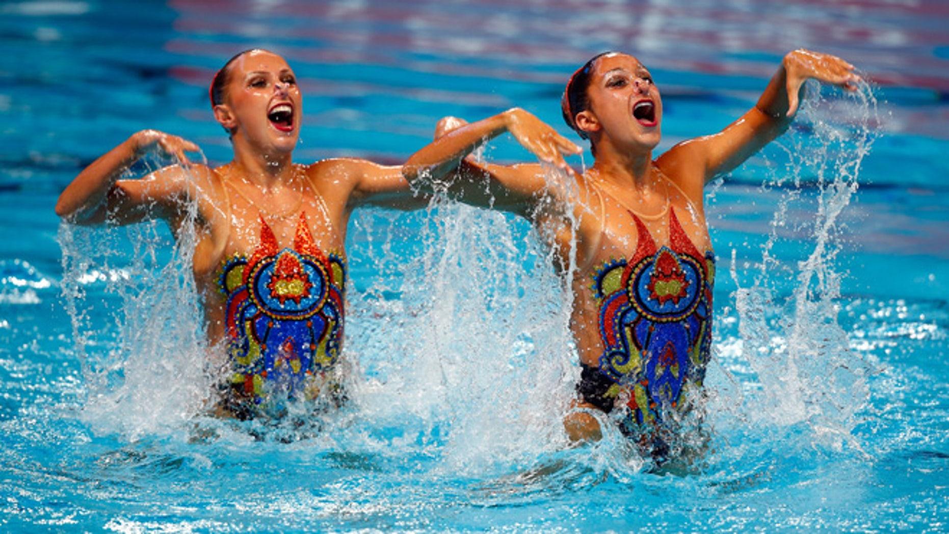 Anita Alvarez and Mariya Koroleva on July 30, 2015 in Kazan, Russia.